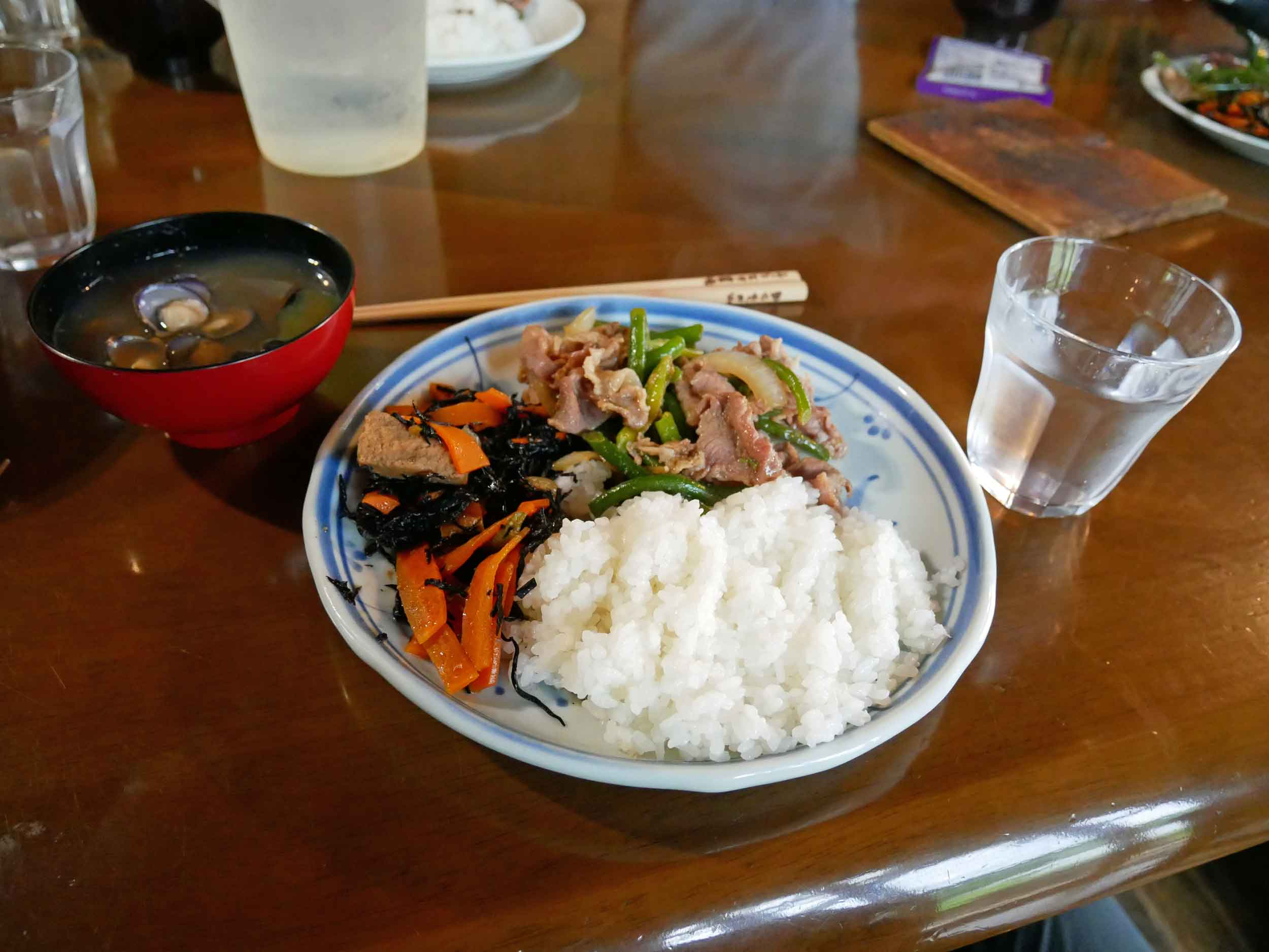 We were rewarded for our labour with delicious Japanese meals prepared by our lovely host, Junko-San.