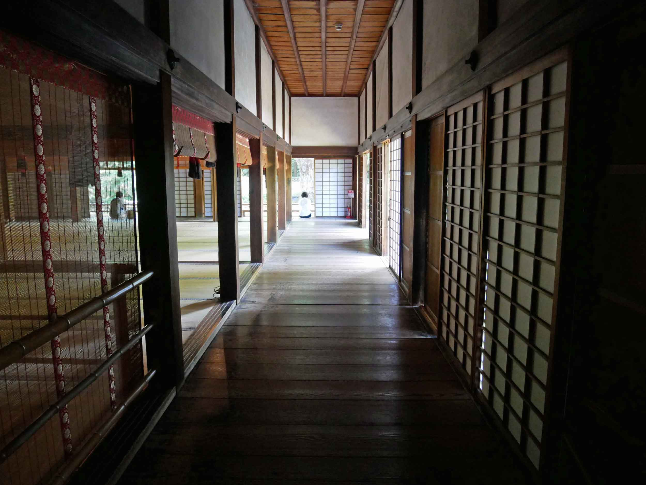 Inside the complex of Shoren-in Monzeki where you could feel the sacredness of the past.