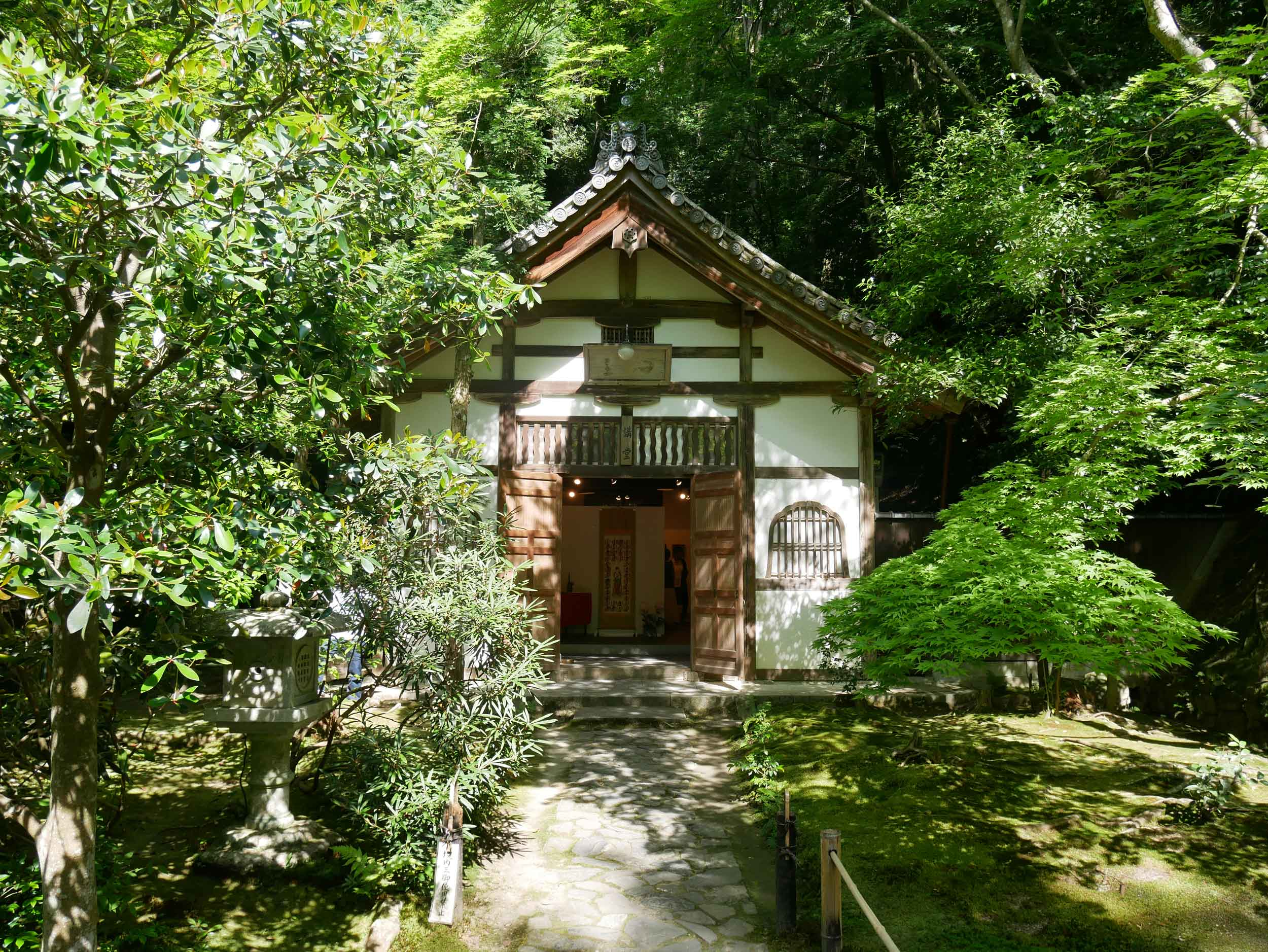 Honen-in temple complex is set back within the woods and begs contemplation.