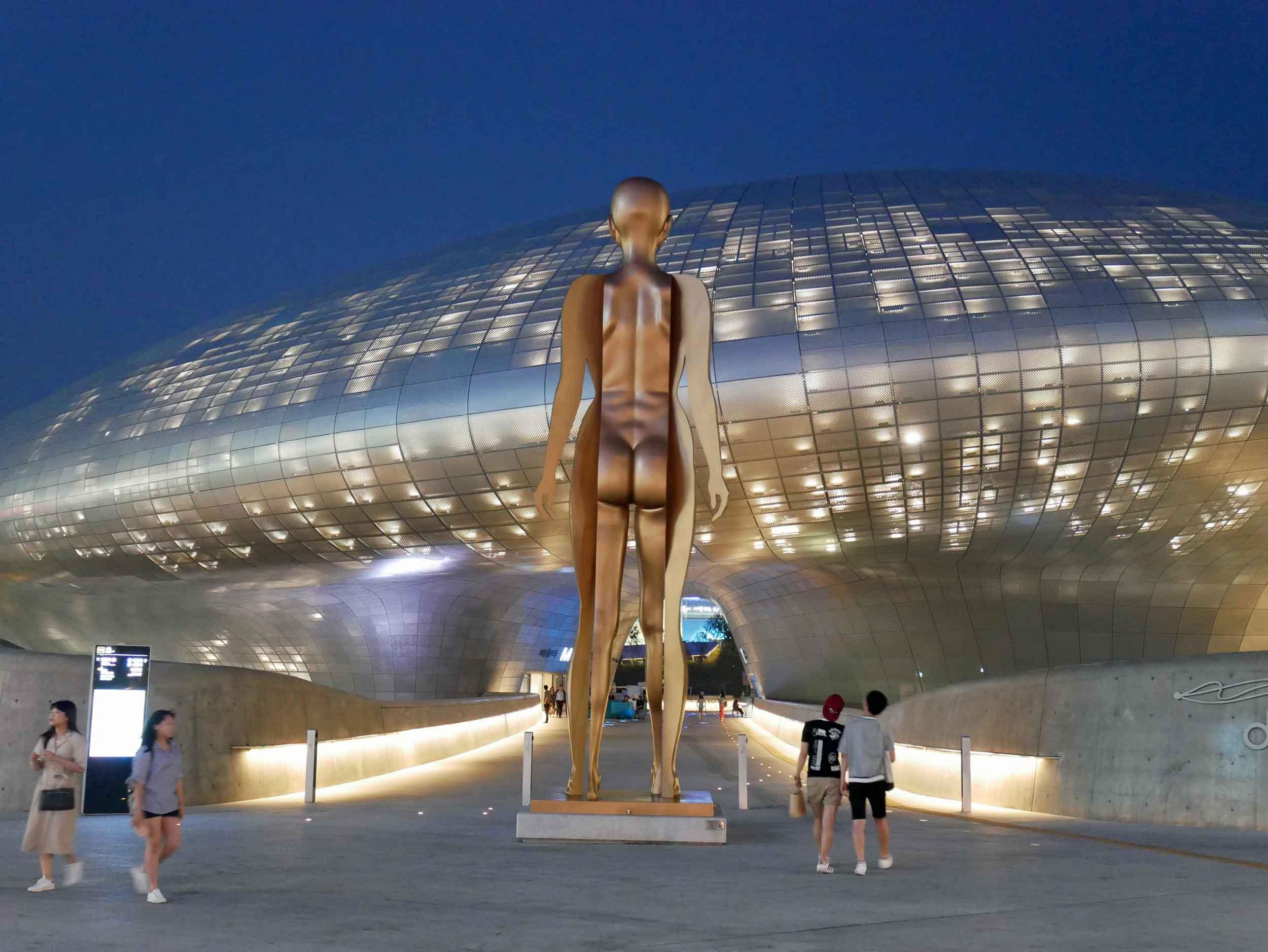 The spaceship-like DDP, designed by famed architect Zaha Hadid.