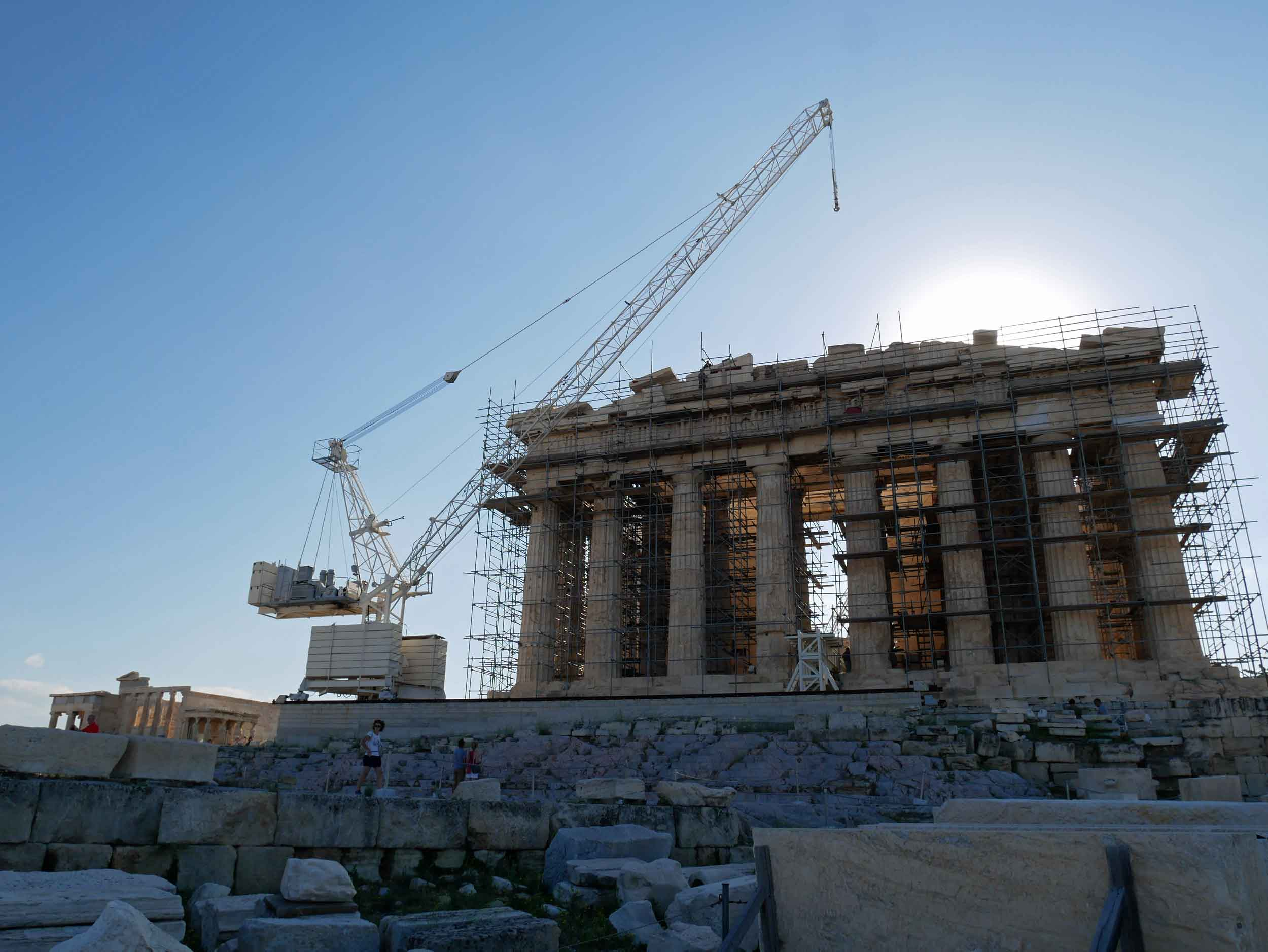 The erection of the Parthenon took nine years, however, has been in restoration by the Greek government since 1975.