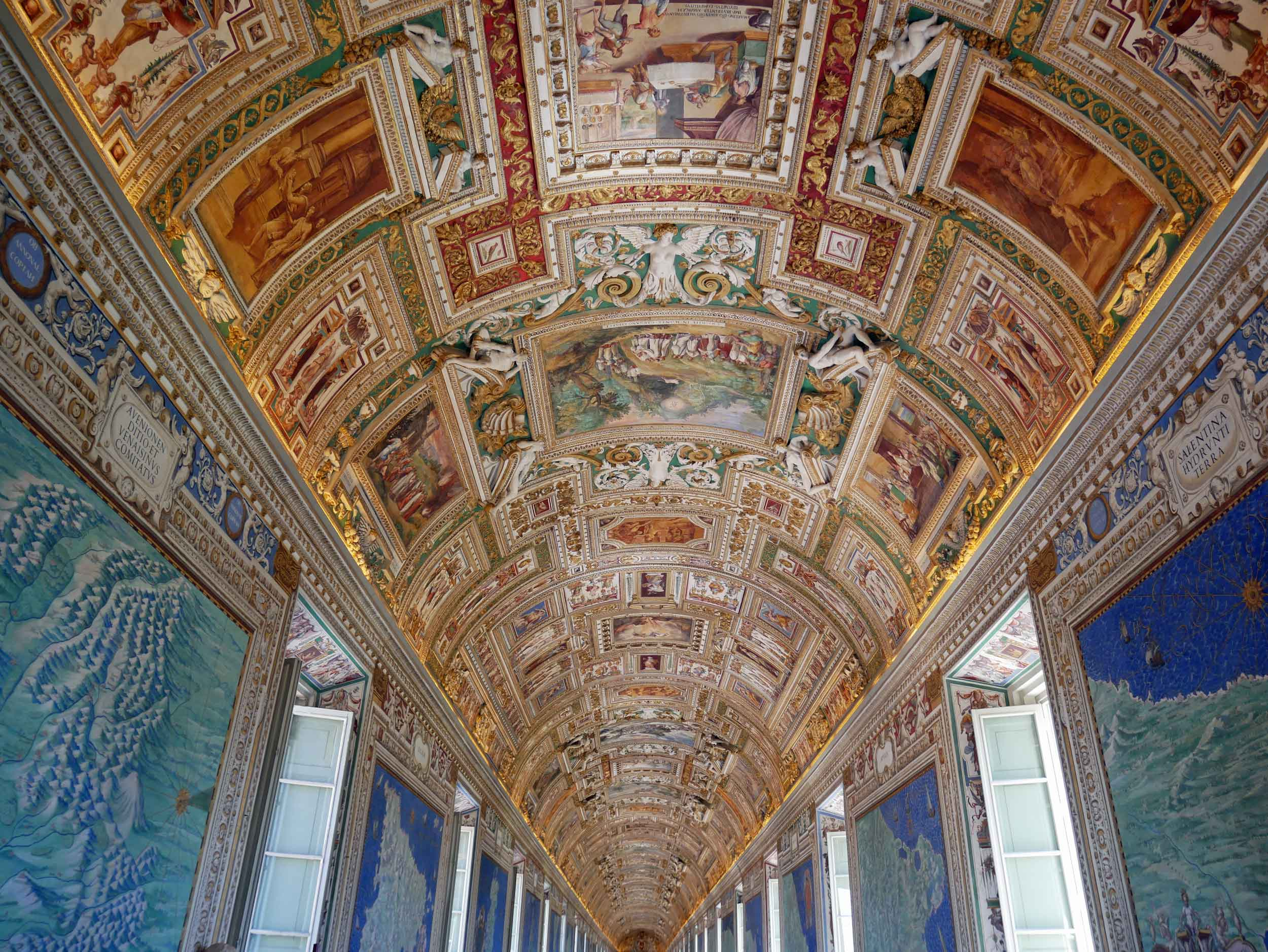 Our first stop in Rome was the Vatican, where we stood in awe under the ceiling of the Sistine Chapel. No photos were allowed, but the Map Room was also fantastic with ancient frescos of Italy (July 12).