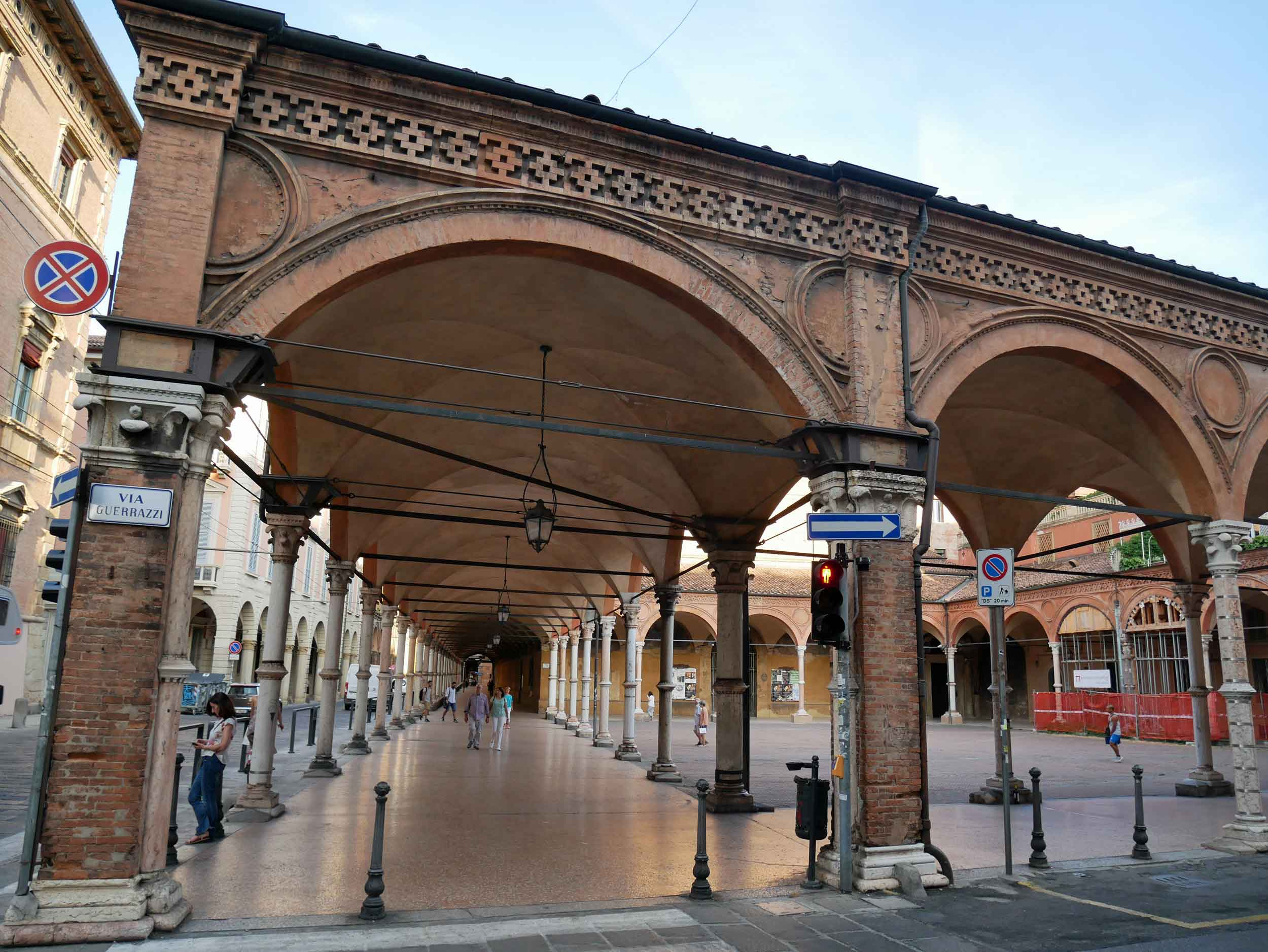 Bologna is also home to many lengthy porticoes, some 38 kilometres in the city's historical center.