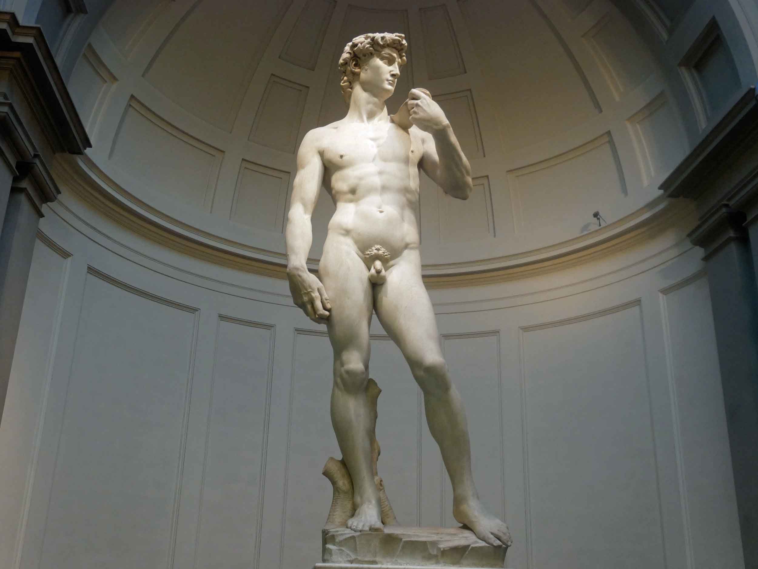 And finally, the pièce de résistance, the striking statue of  David.  We began and ended our Italian journey with Michelangelo.
