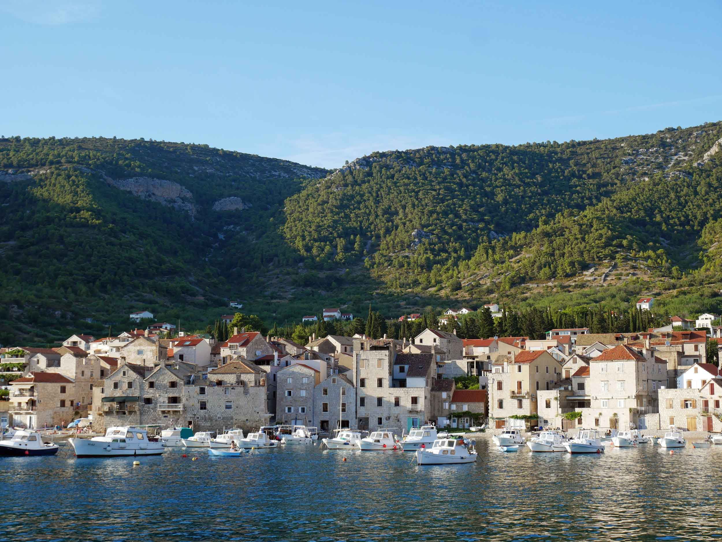 From the 'sweet life' in Italy, we arrived to busy Split, Croatia, and took a ferry to the farthest village on the farthest island off the Dalmatian Coast, Komiža, Vis (July 28).