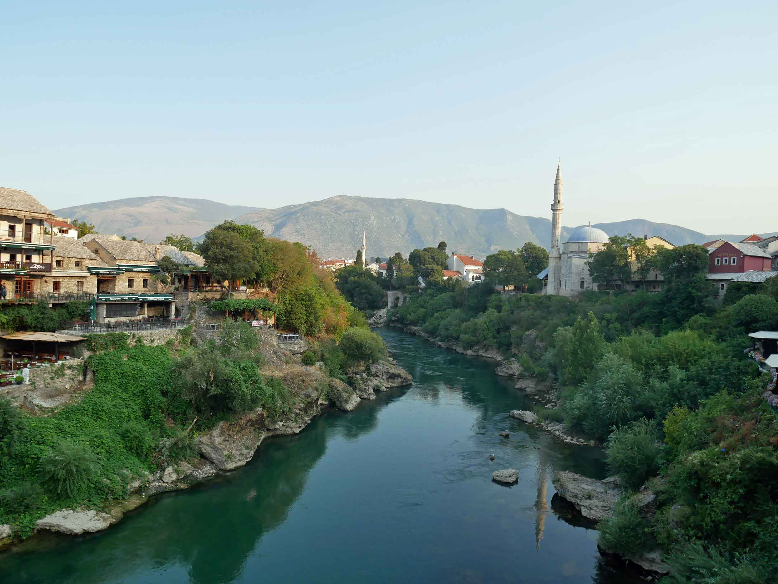 After our island holiday, we arrived to picturesque Mostar in the country's southern Herzegovina region (Aug 4).
