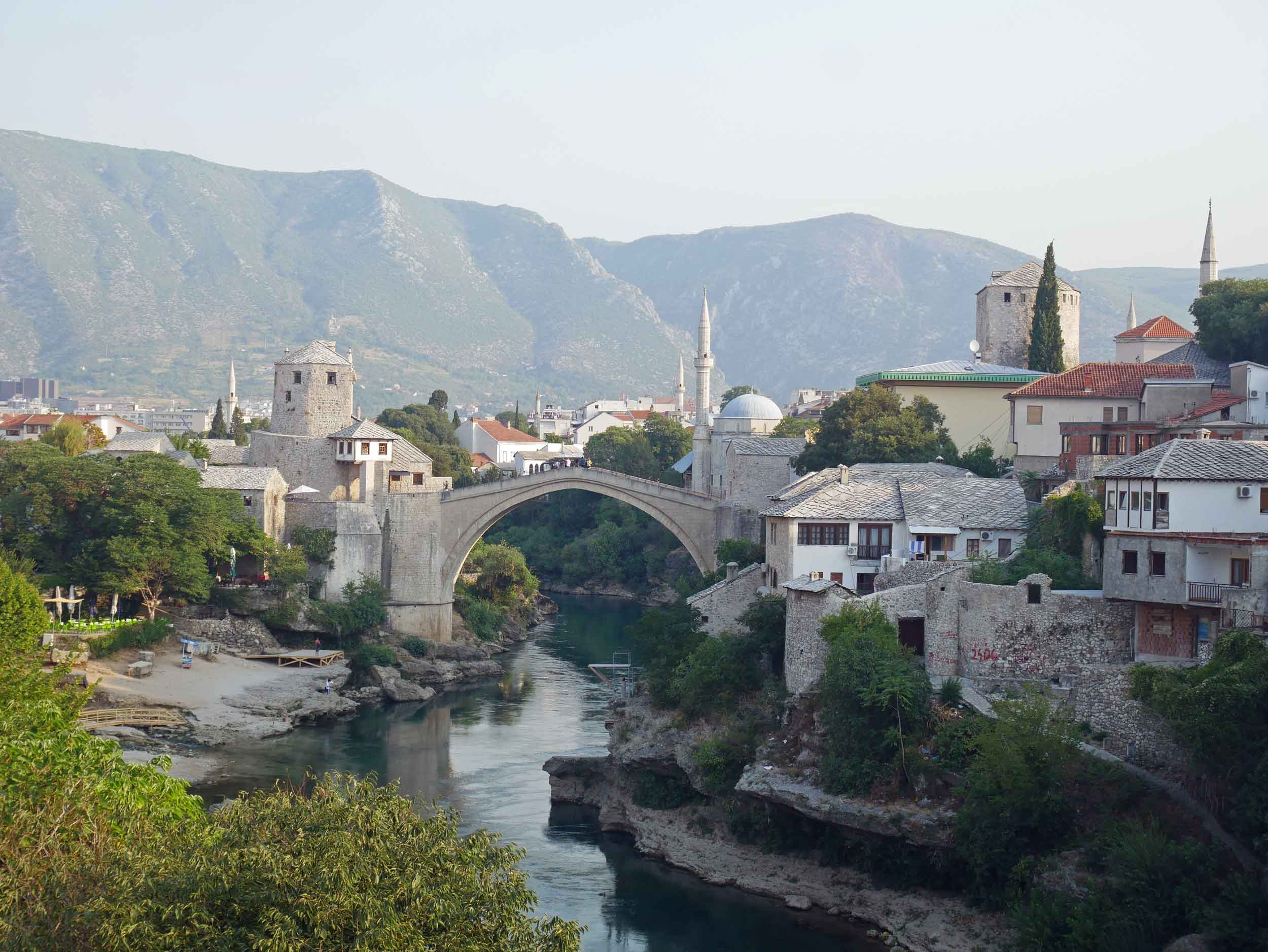 Charming Mostar was badly damaged during the Bosnian War, including the Stari Most which had to be rebuilt during reconstruction.