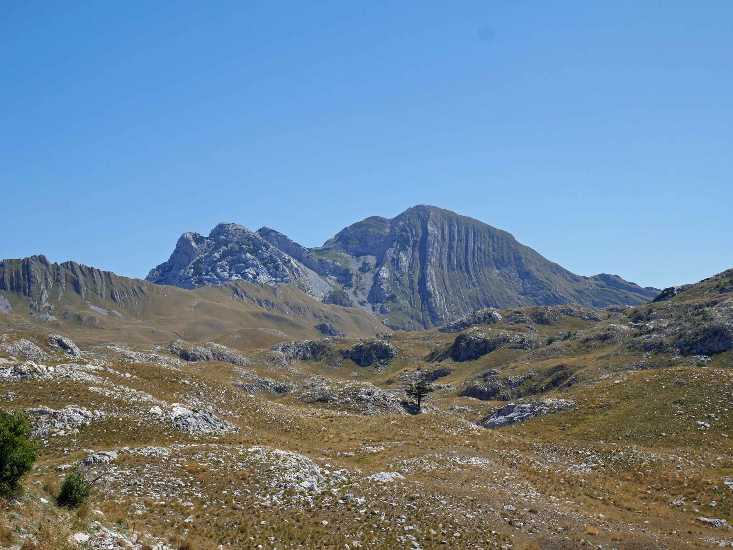 The awesome landscape of Durmitor massif boasts more than 40 peaks above 2,000 metres (6,500ft).