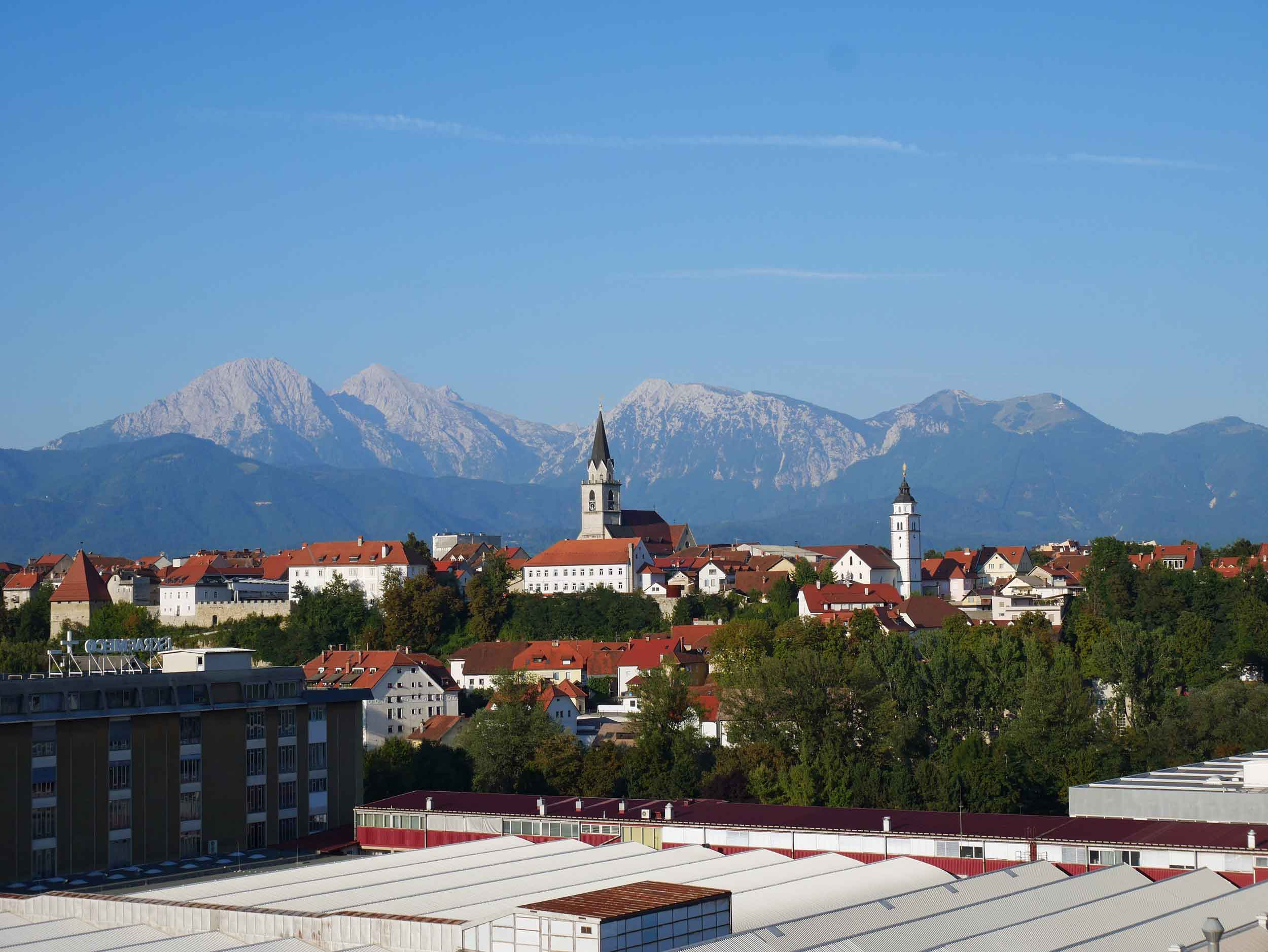 Arriving from the southern Balkans, Slovenia was a relief in both temperature and lifestyle of more traditional European villages, such as Kranj, our fist stop (Aug 18).