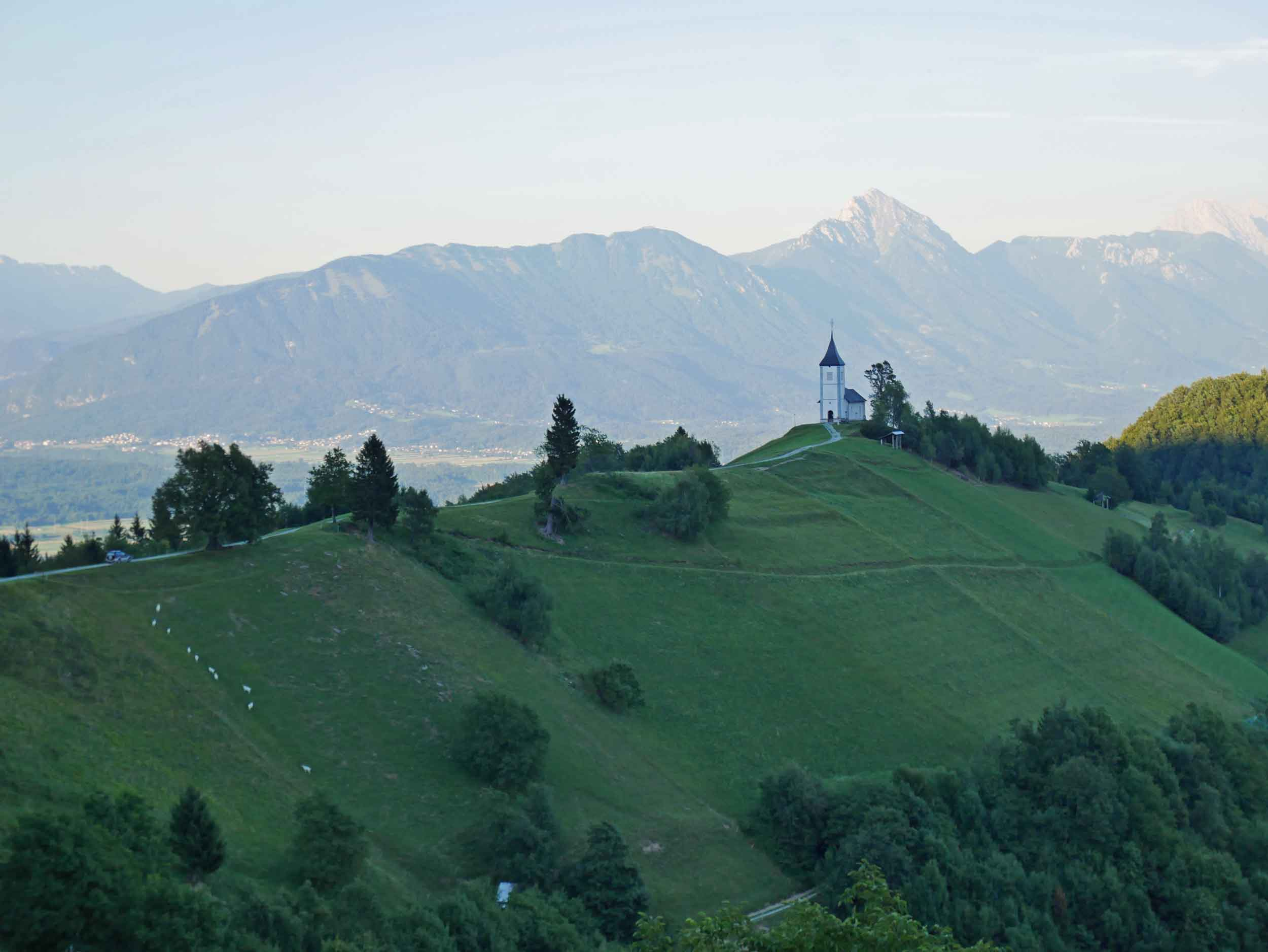 The lush green rolling hills and Alpine scenery of Slovenia was a drastic contrast to the dry and arid landscape from which we'd come.