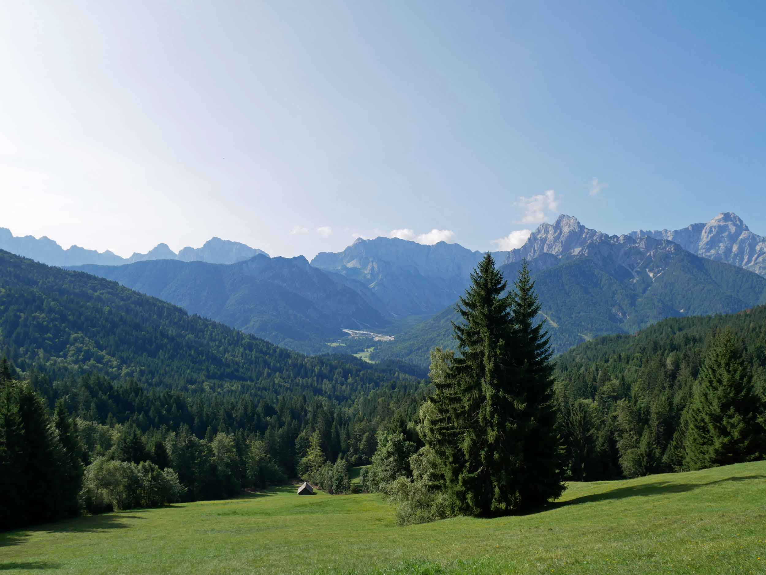 The next morning, we made the ascent to Tromeja, the triple border region in Slovenia's far northwest which offered scenic views (Aug 22).