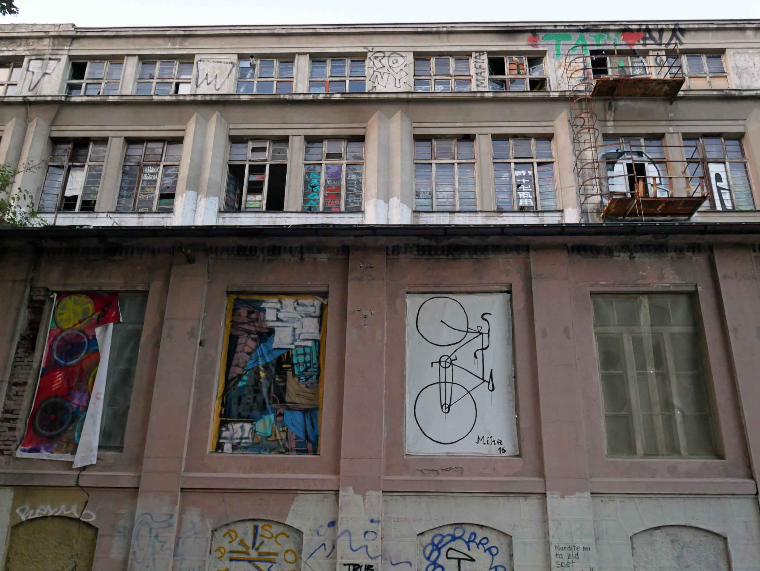 Ljubljana also had a youthful, creative edge including large warehouses that were used by artists.