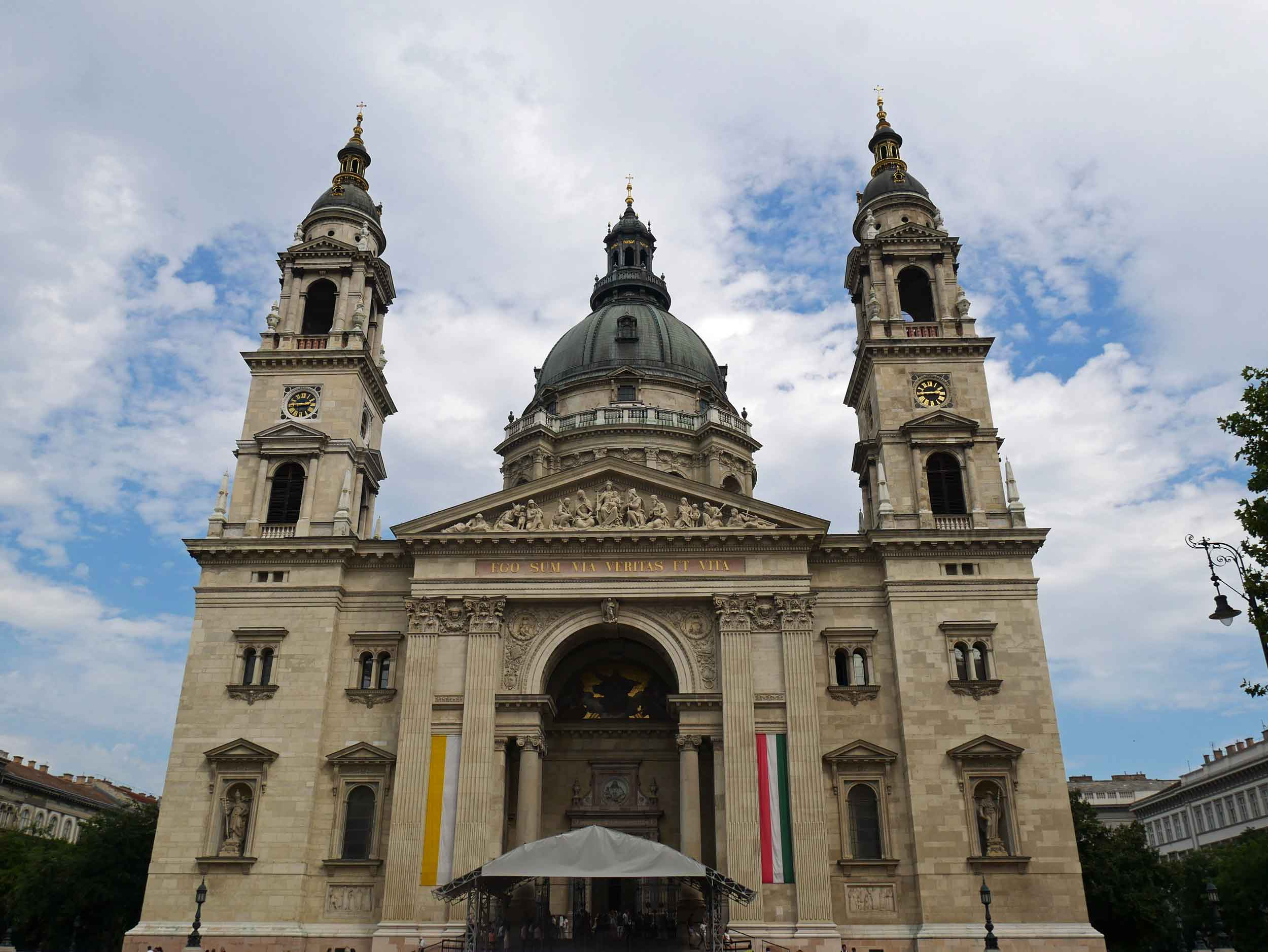 The famous St. Stephen's Basilica is named for the country's first king and supposedly houses his right hand.