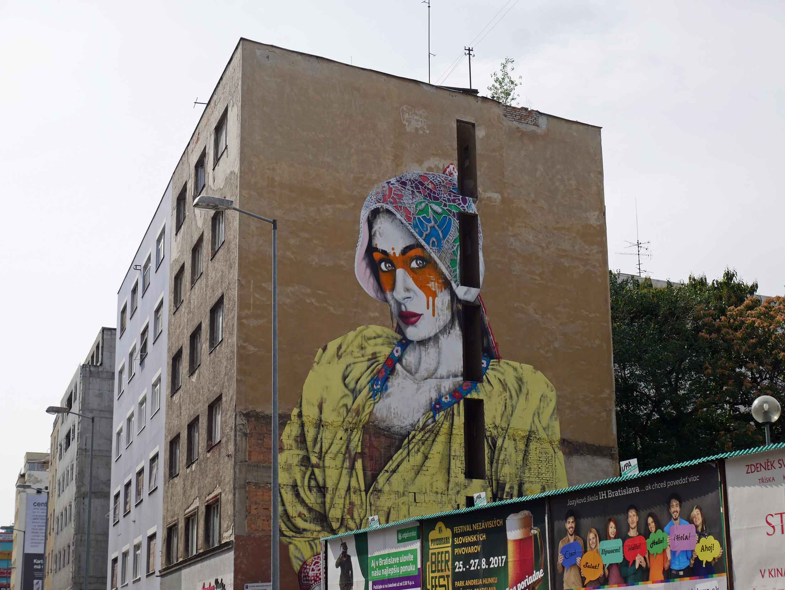 Large, beautiful murals adorn the city's walls as part of the annual Bratislava Street Arts festival, spotlighting local, talented artists (Aug 27).