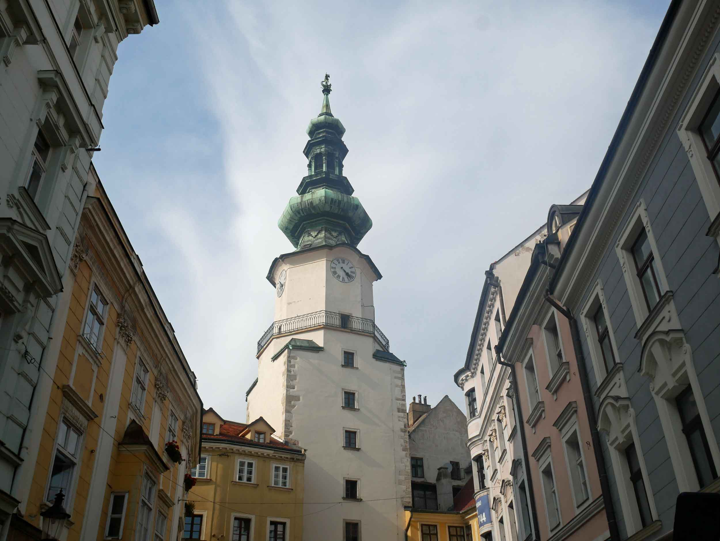 1) Looking up in the old town!