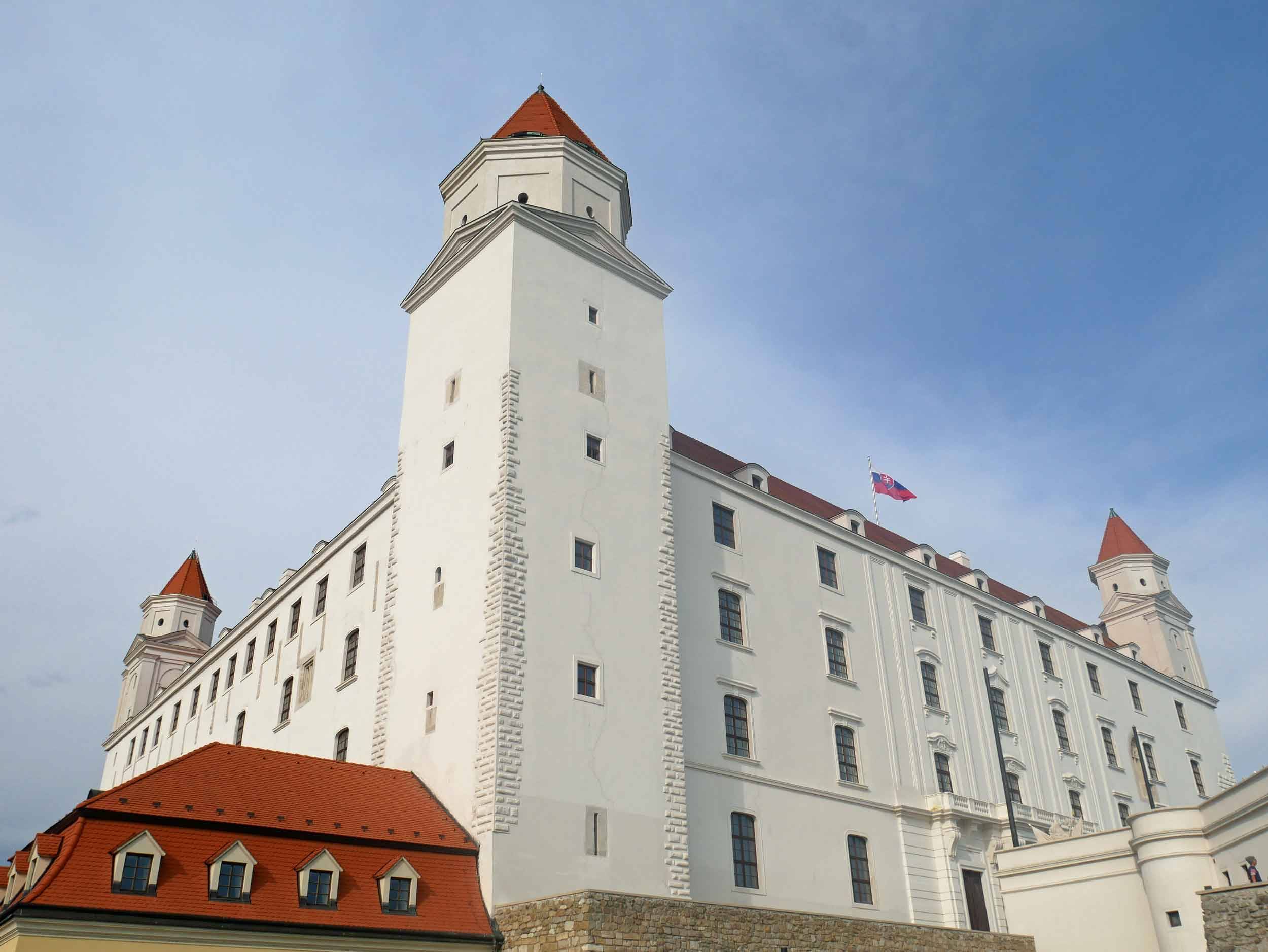 Bratislava Castle, perched atop the isolated rocky outcrop of the Little Carpathians, has lorded over the city for centuries.