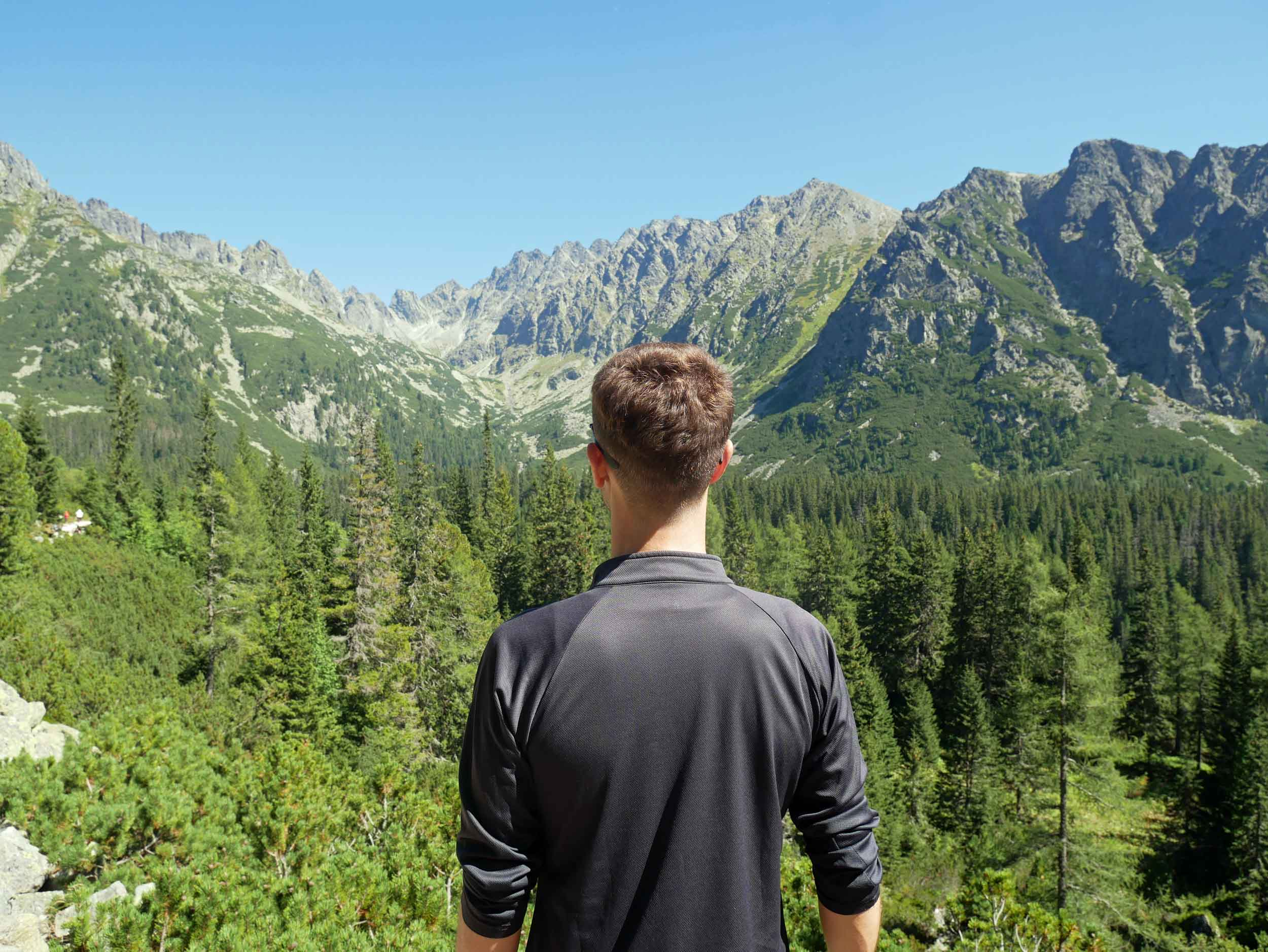 Martin is stopped in his tracks by the beauty of the Tatras.