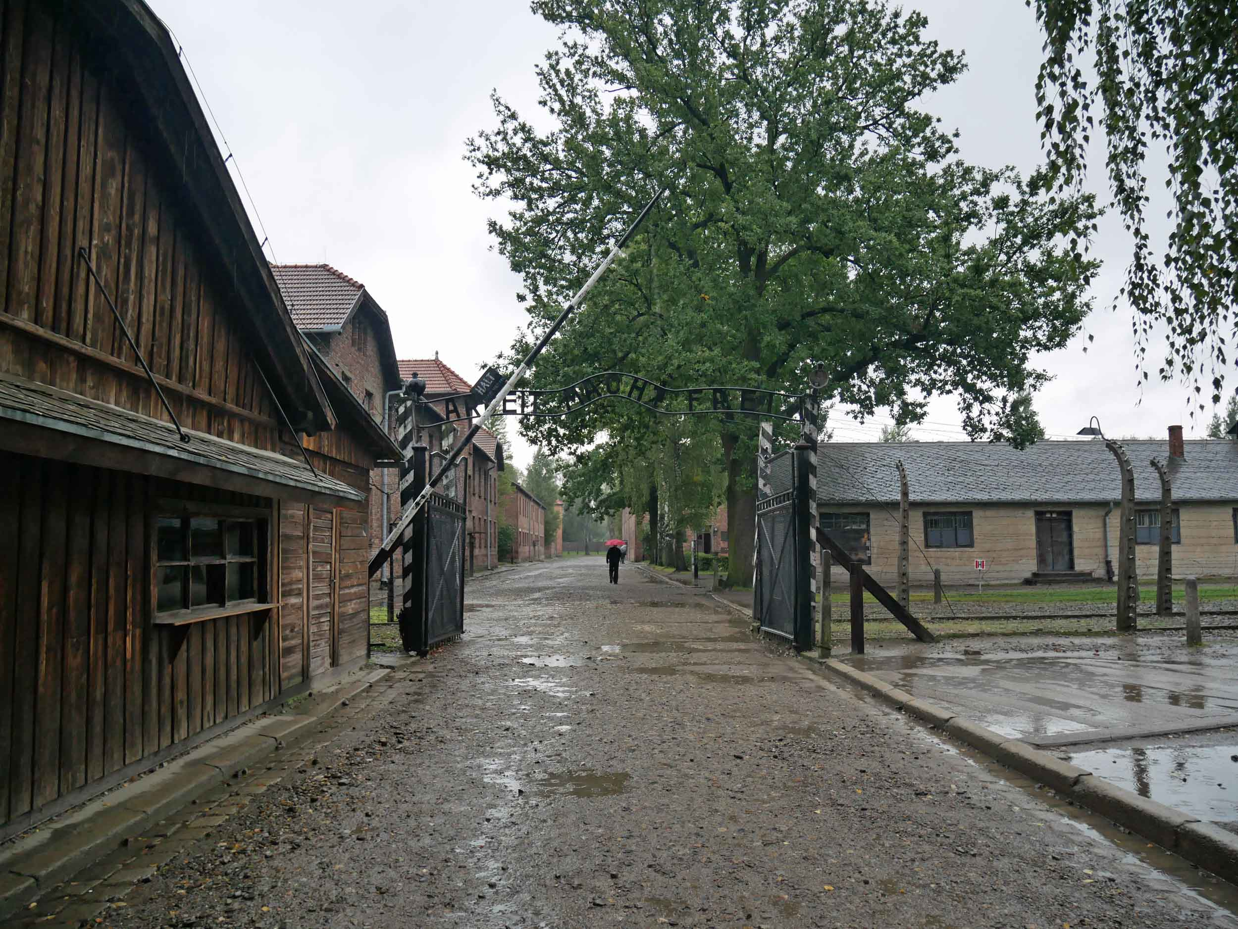 """The gates to hell at Auschwitz Concentration Camp read, """"Arbeit macht frei"""" is a German phrase meaning """"work sets you free"""" (Sept 3)."""