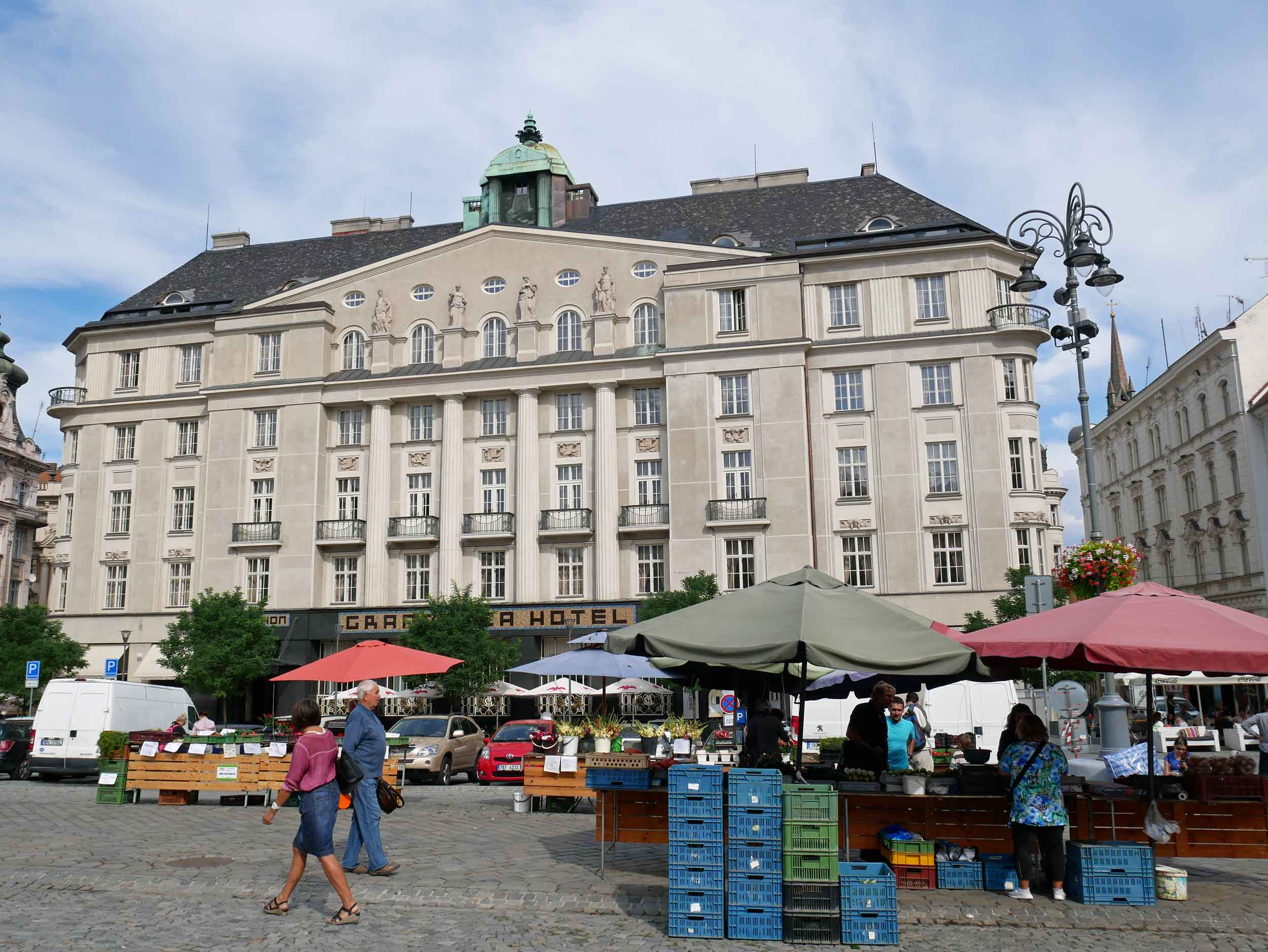 Cabbage Market Square in Brno happened to be having a local farmers' market the day we visited!