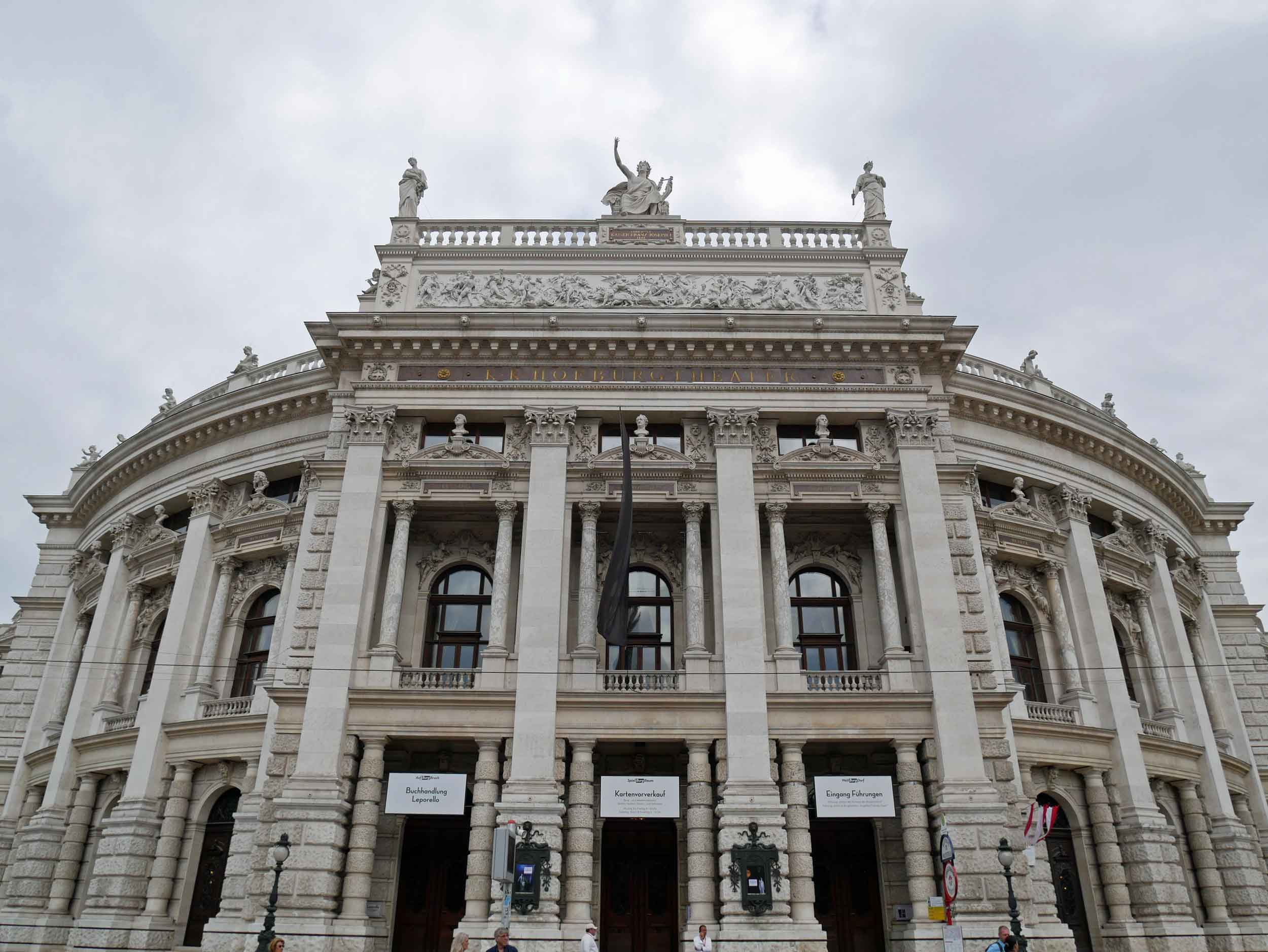Vienna's stunning Burgtheatre is one of the most important German language theatre's in the world and features magnificent staircases painted by the artist Gustav Klimt.