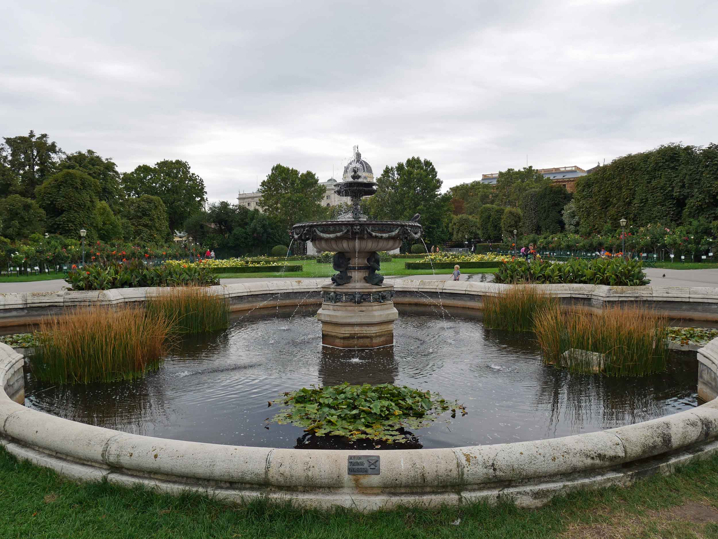 We couldn't resist strolling the rose gardens of the idyllic Volksgartan park, which is part of Hofburg Palace.