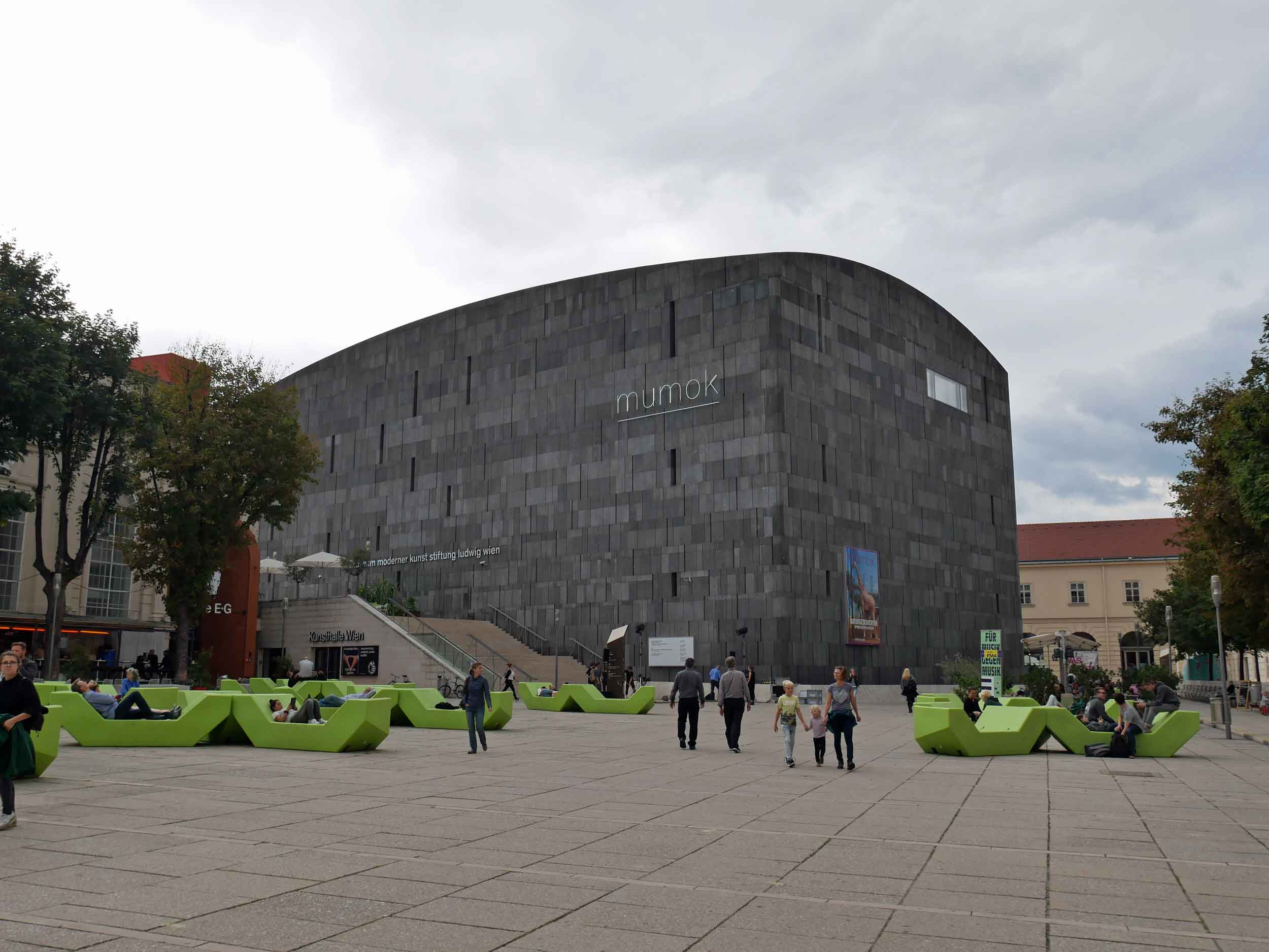Mumok is a cutting-edge modern art museum in the city's Museumsquartier.