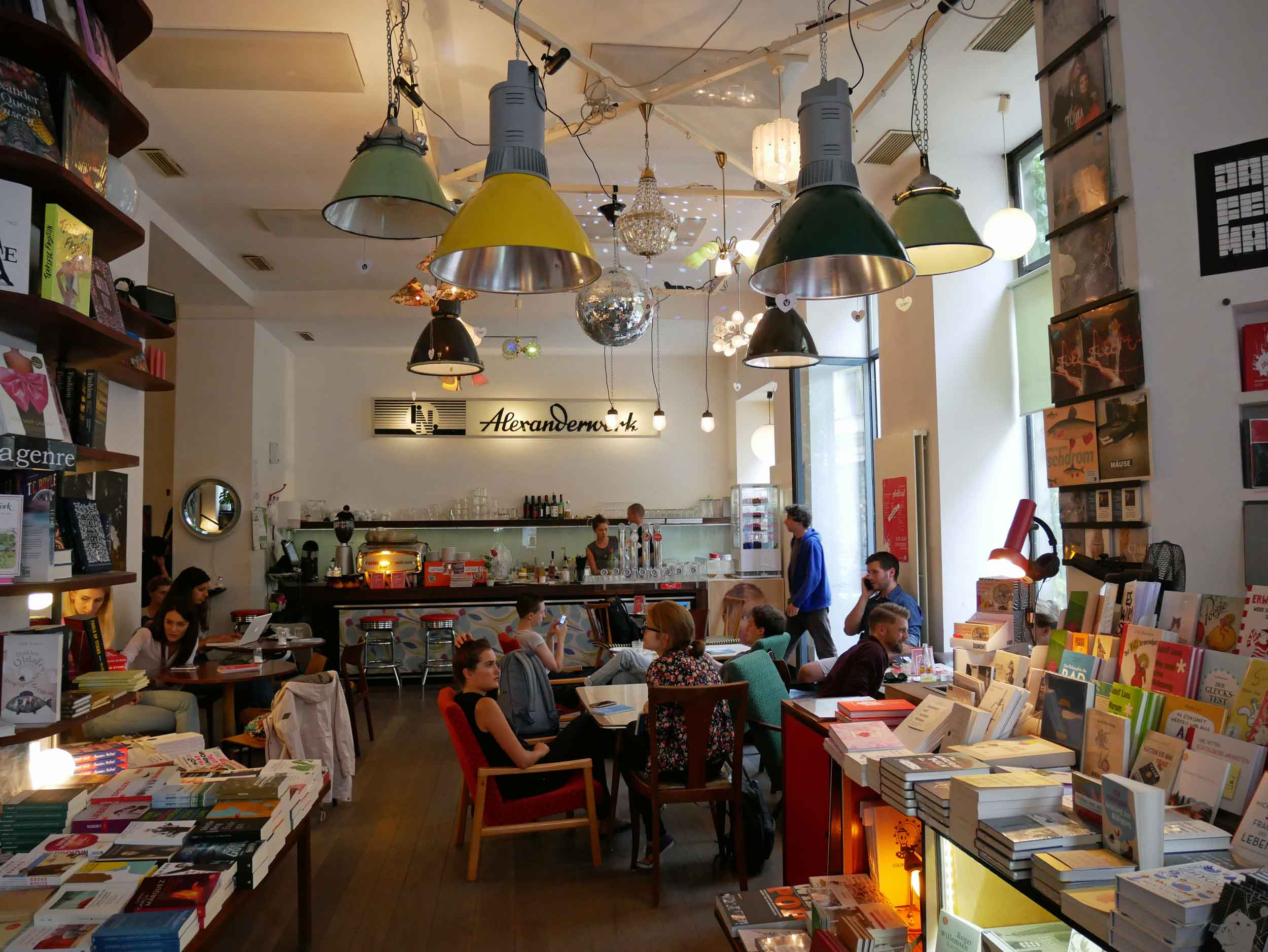 We just cant help visiting a bookshop in every city we visit – Phil, in Vienna's Mariahilf neighborhood, has a cozy atmosphere and serves a wide selection of drinks.