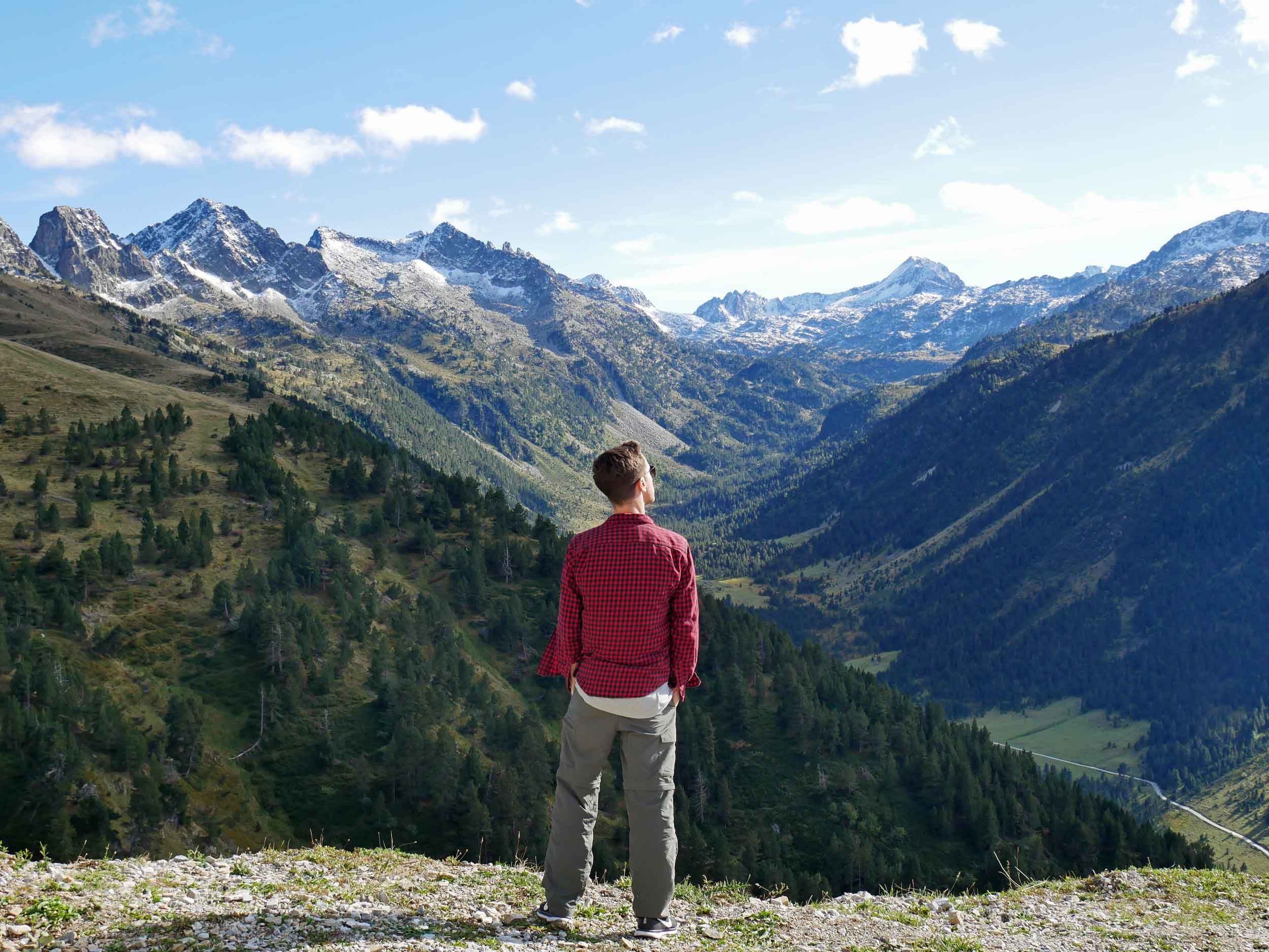 Martin takes a break from driving to take in the view as we entered the Pyrenees.