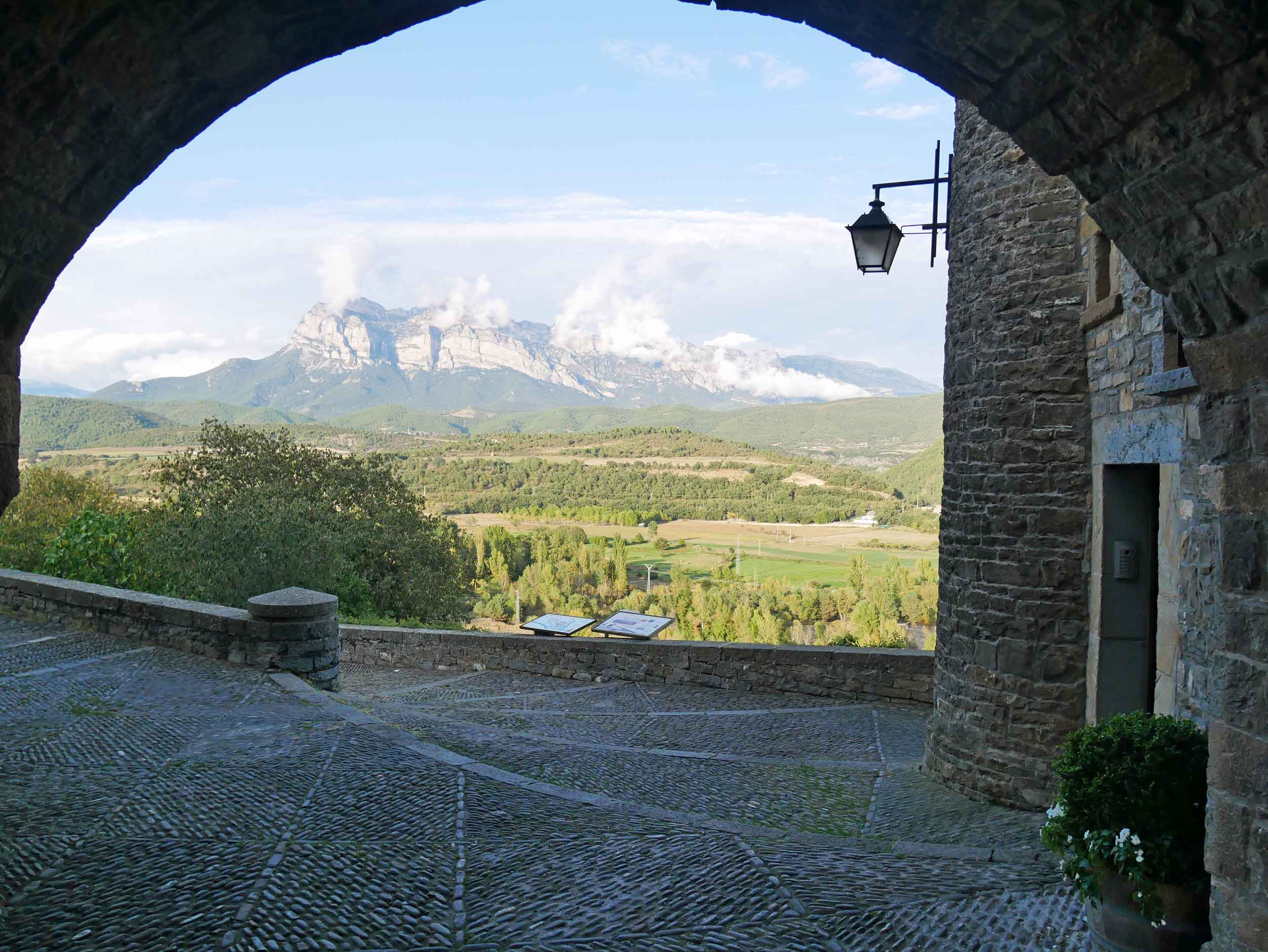 Our charming apartment was nestled in the heart of the old village center and offered unparalleled views of the mountains beyond.