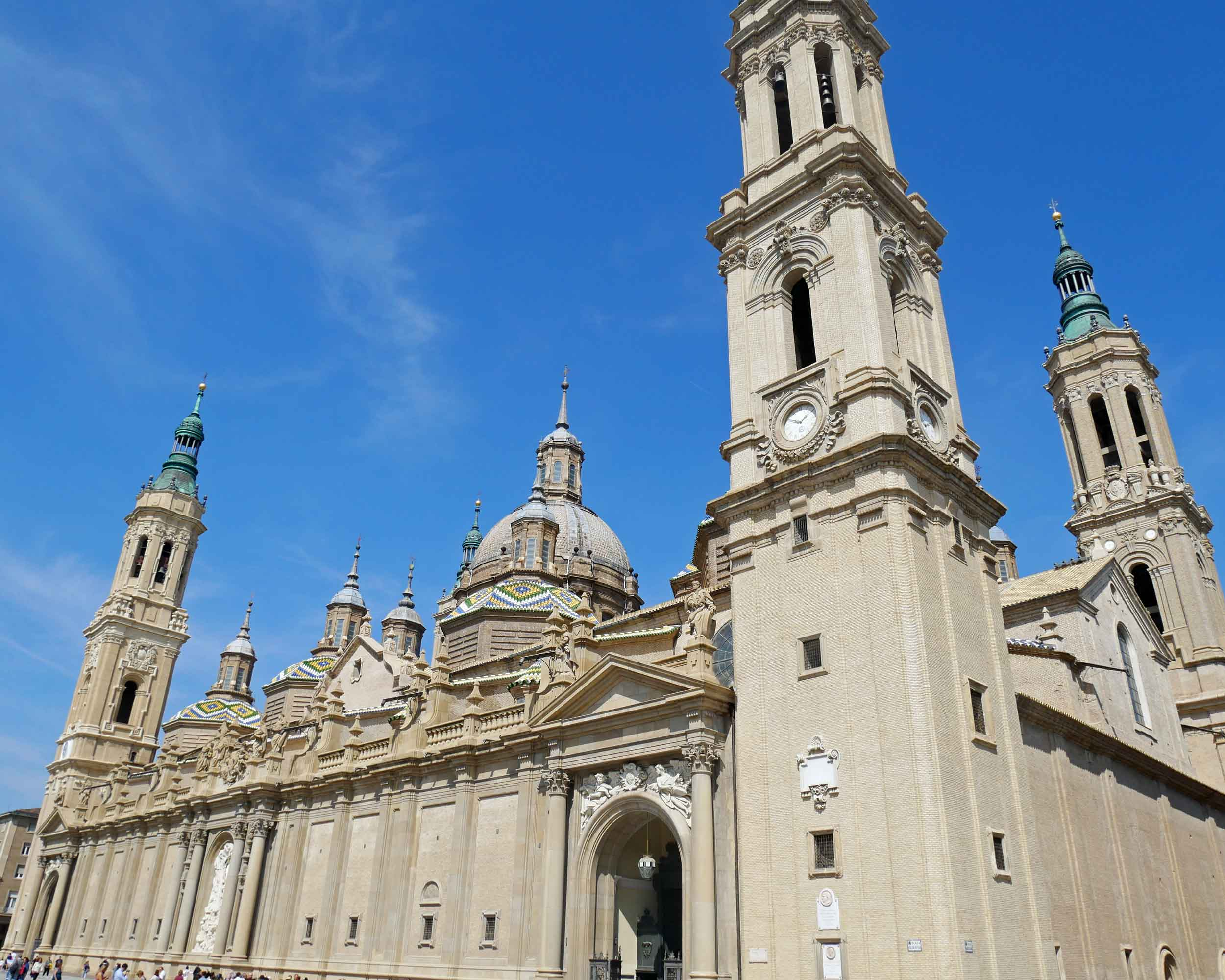Multiple church structures have occupied the site, each one larger than the one it replaced, but today the basilica is the second largest church in Spain (Seville's cathedral is larger).