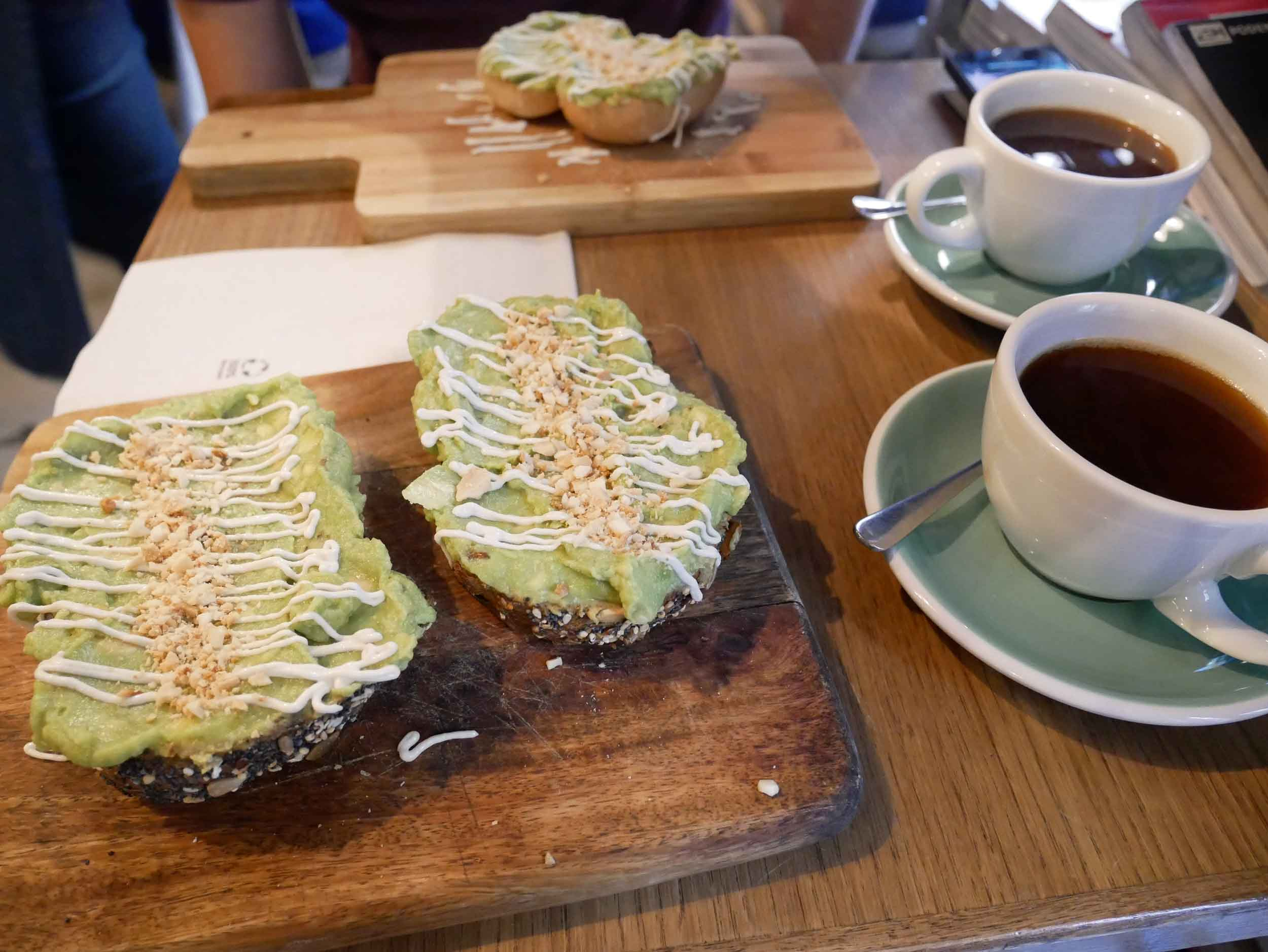 Our last breakfast in Europe of the year of avocado toast at Pum Pum (Sept 25).