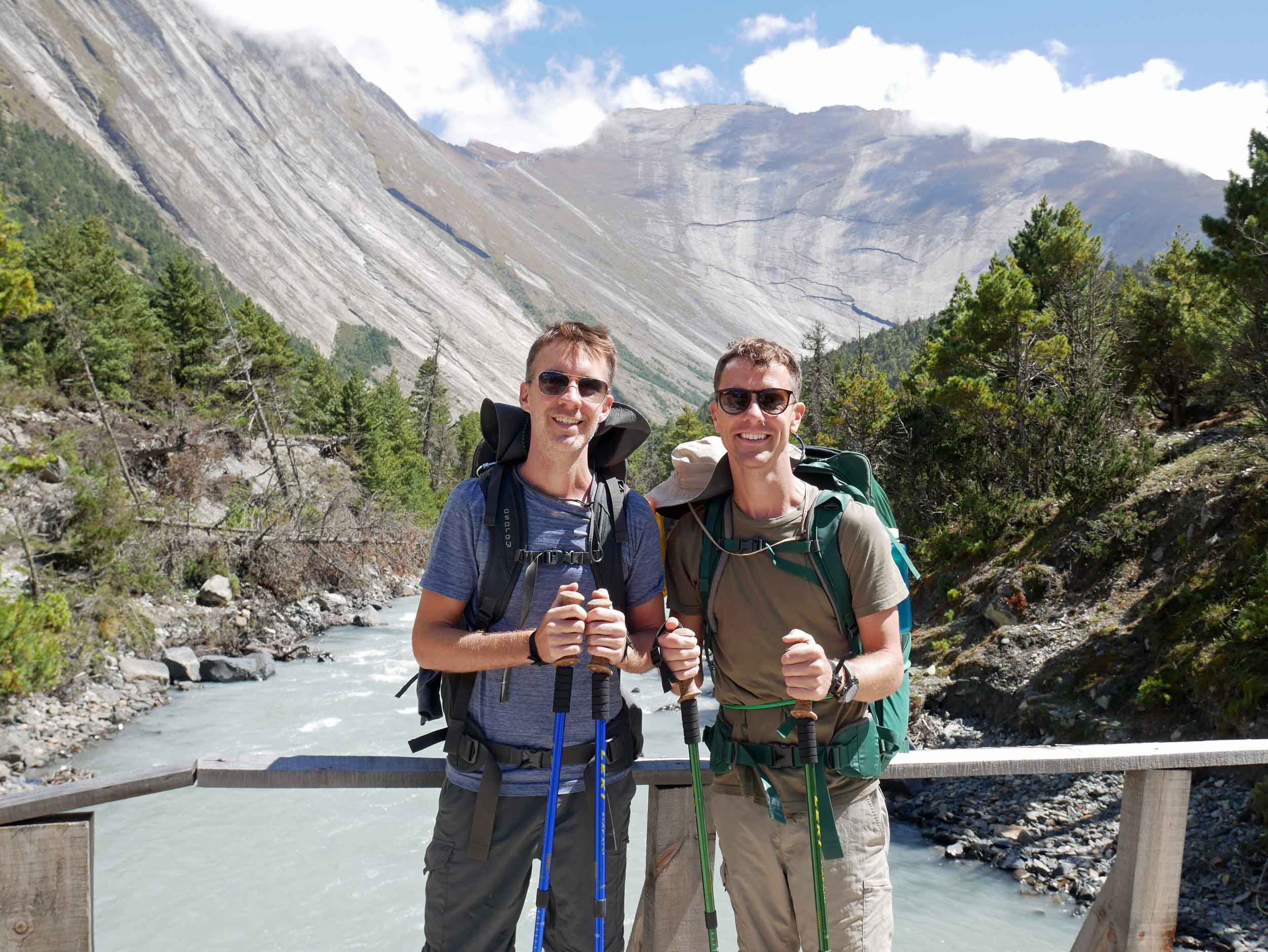We were fitted out for this seven-day sojourn, hiking poles and all!