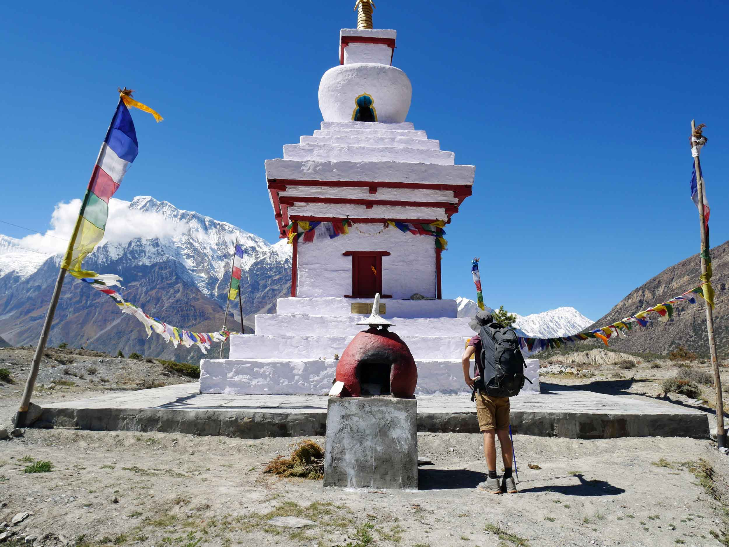 Trey taking in the resplendent beauty of one of the understated holy Buddhist  gompas .