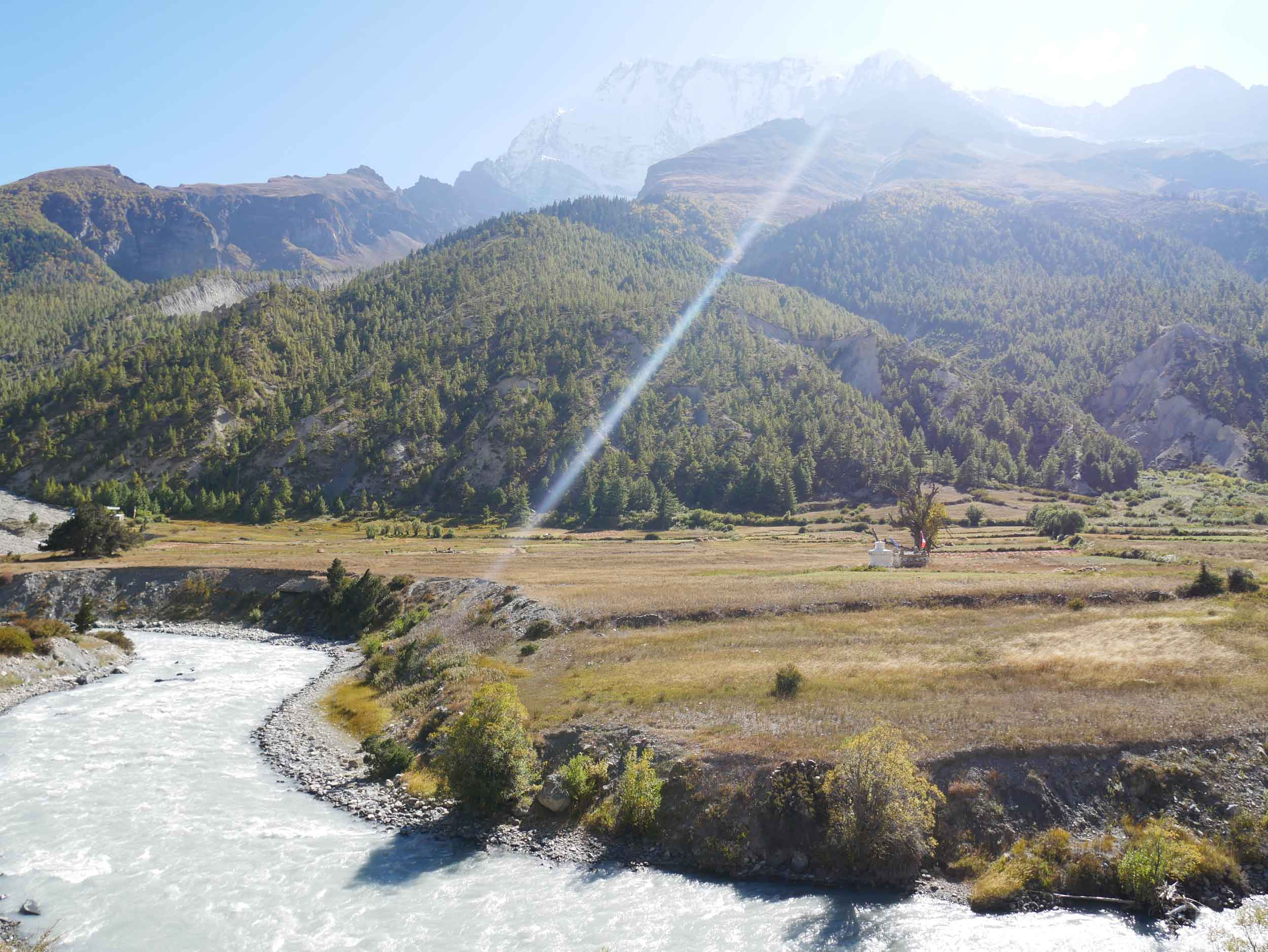 Our hike into the regional capital of Manang during 'golden hour' brought us spectacular views of the valley.