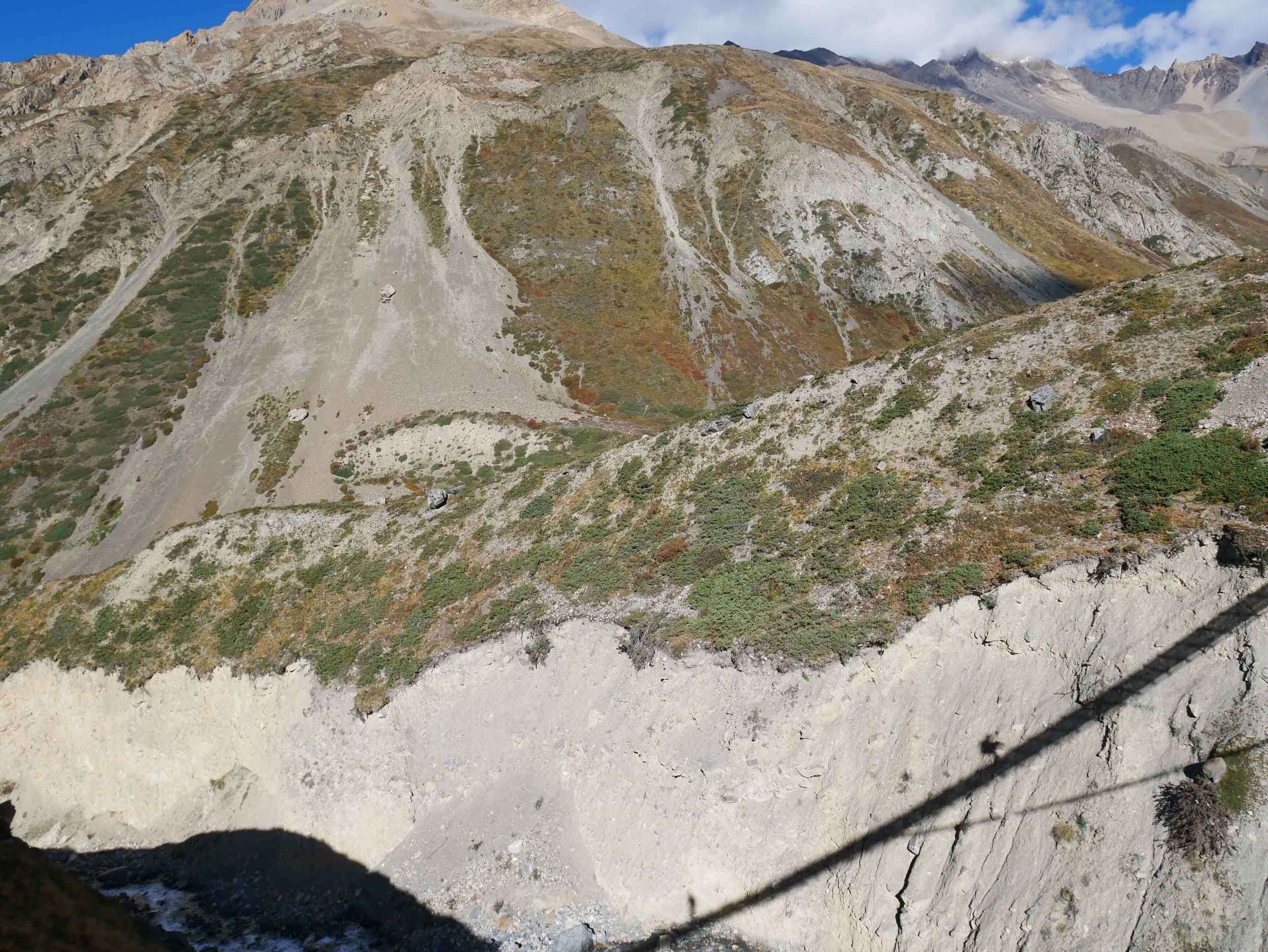 Early morning shadows as we made our way toward High Camp (Oct 8).