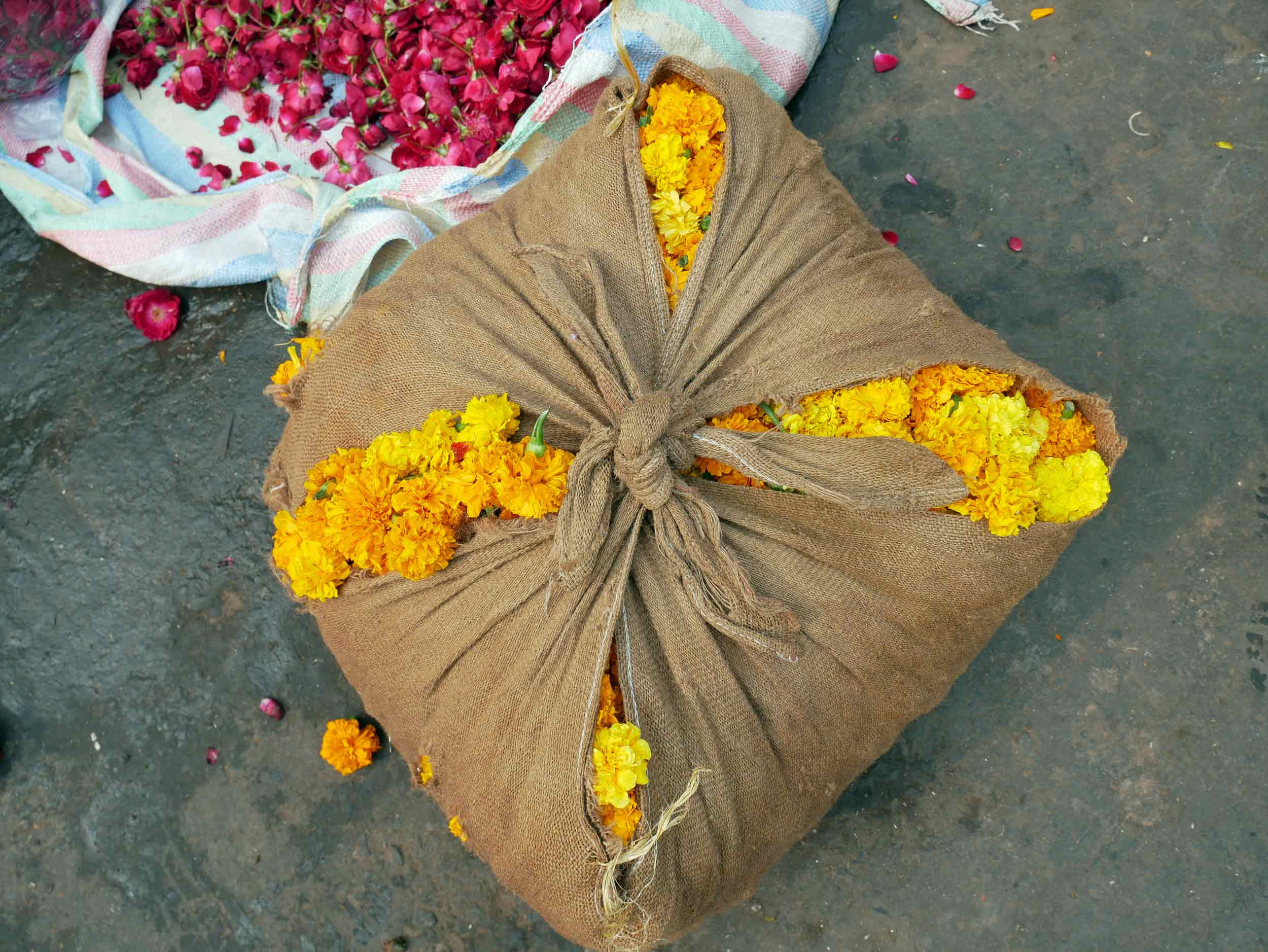 The fragrant flower market of Old Delhi is a sight to behold (and smell!).