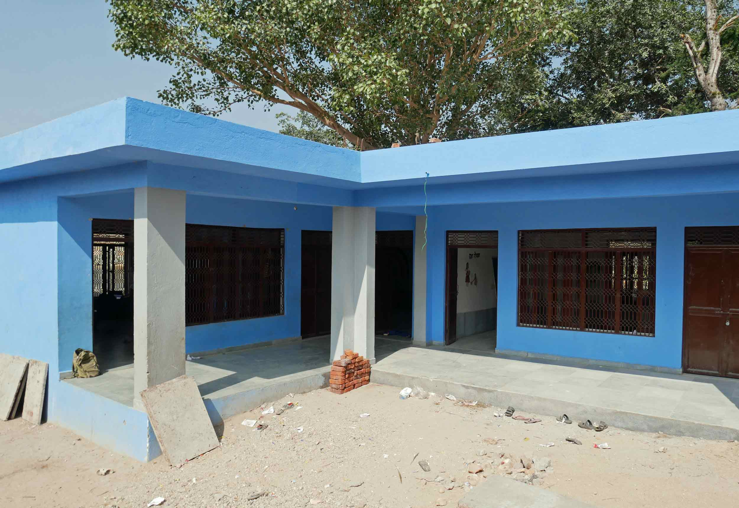 Part of the new school being built by WE in Antri.
