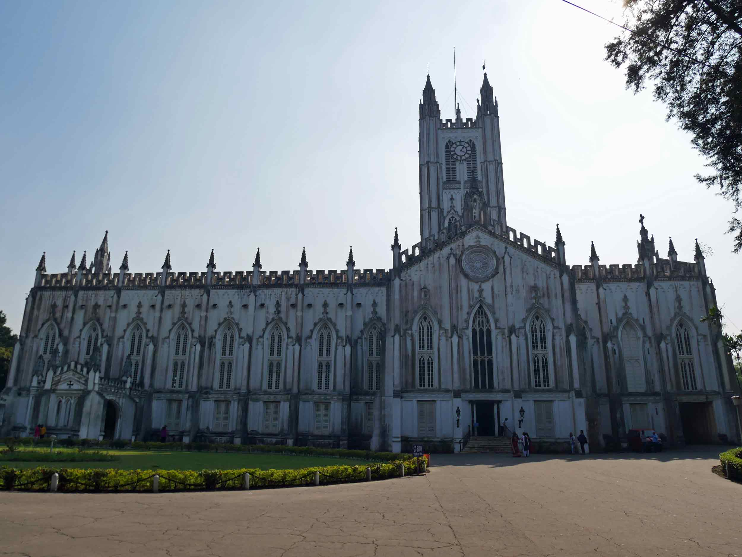St. Paul's Cathedral is a beautiful example of Gothic architecture found along the streets of Kolkata.