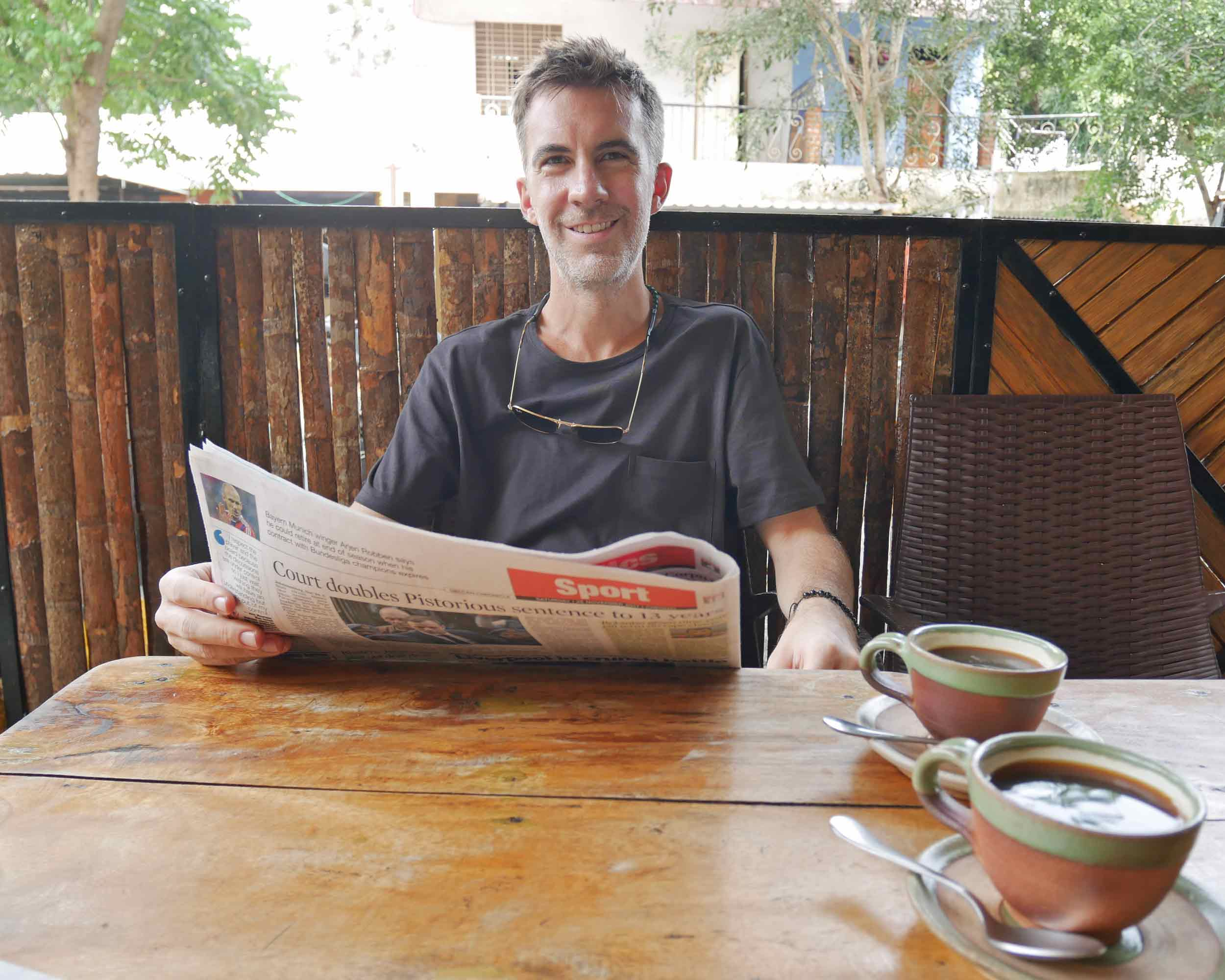 After weeks in India, we thoroughly enjoyed the fantastic western coffee options available in the cafes around Auroville (Nov 25).