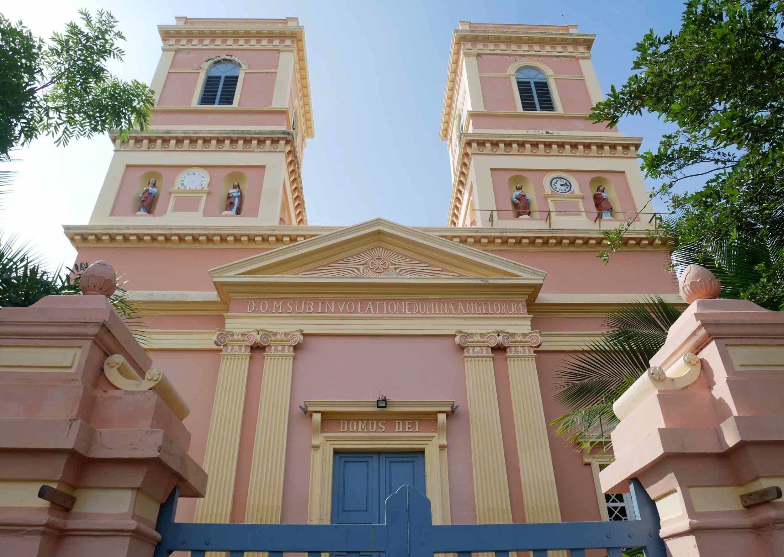 French colonial architecture and pastel colors are replete in this town.