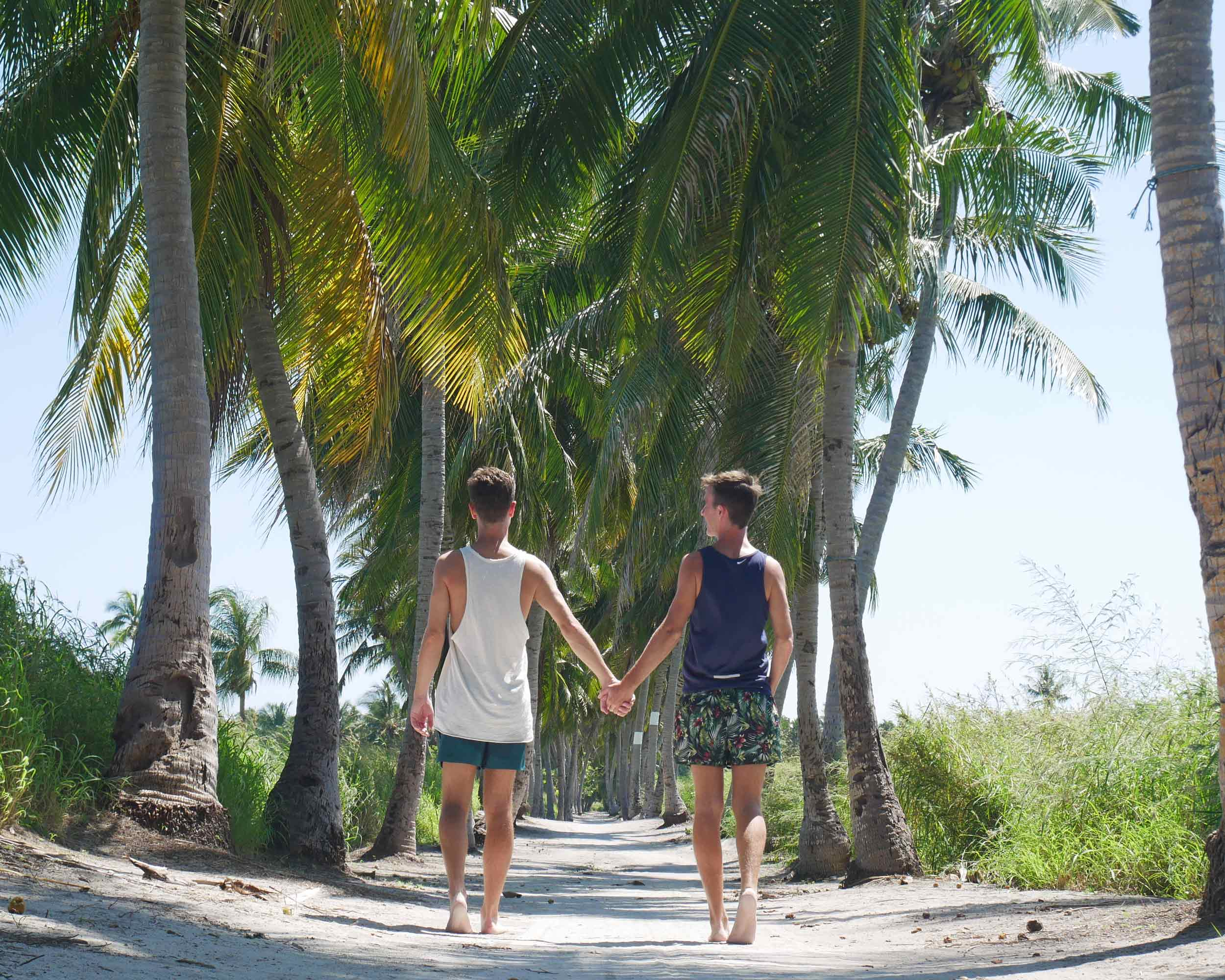 On our final evening walking along our favorite sandy, palm-lined lane, Trey asked Martin if he'd like to walk side-by-side in the journey of life, forever. Yes!