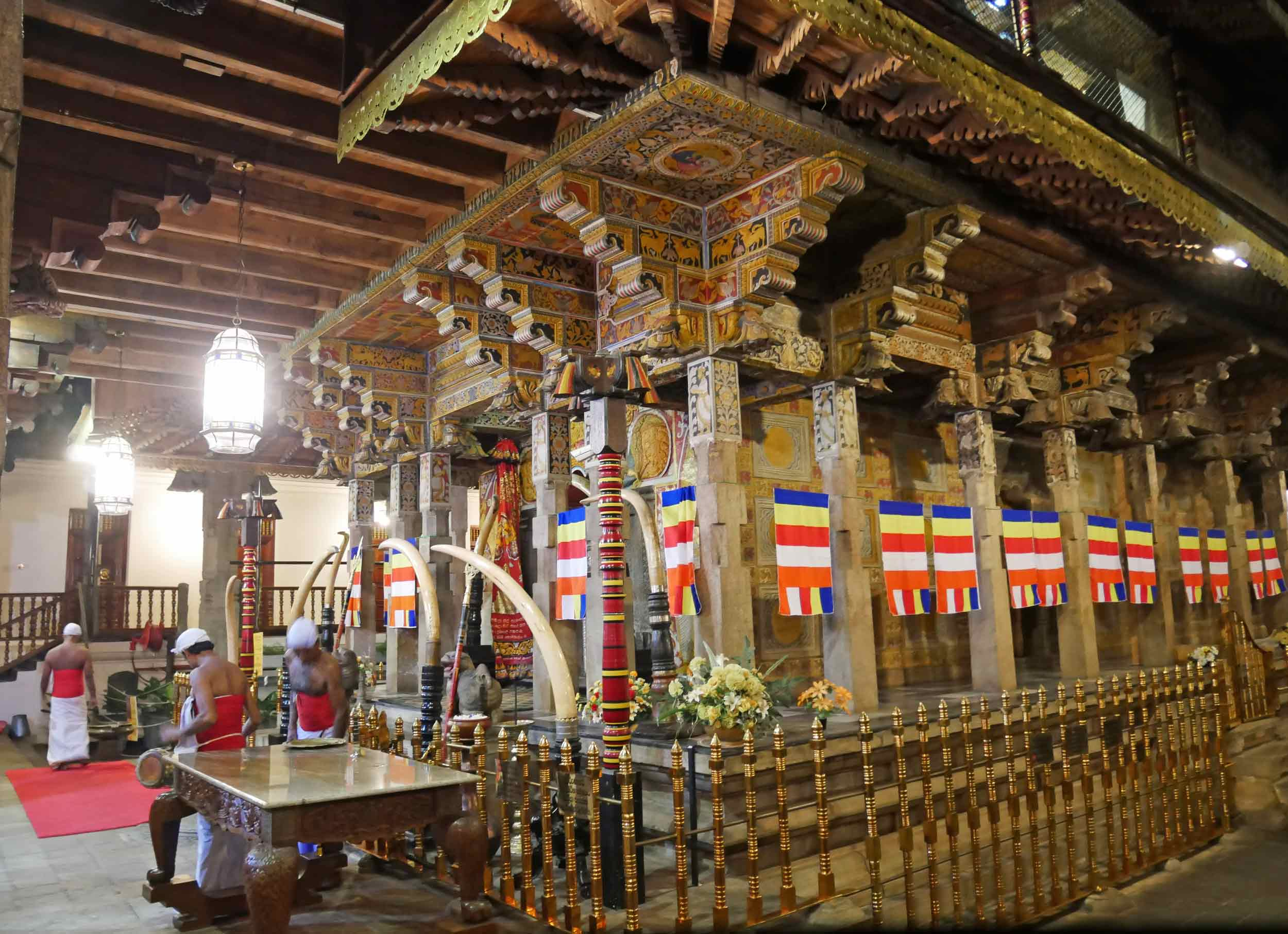 Shrine where the Sacred Tooth Relic is displayed and honored by devotees.