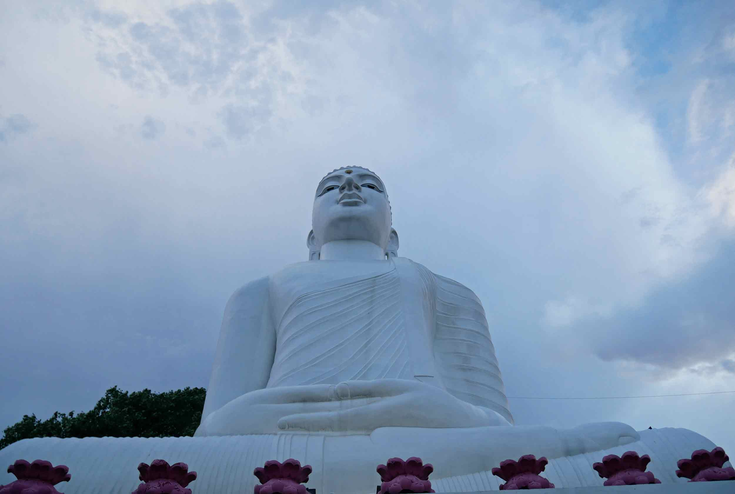 Our last adventure in Kandy was to mount the climb to the Giant Buddha statue overlooking the former capital – we made it just before the evening rain!