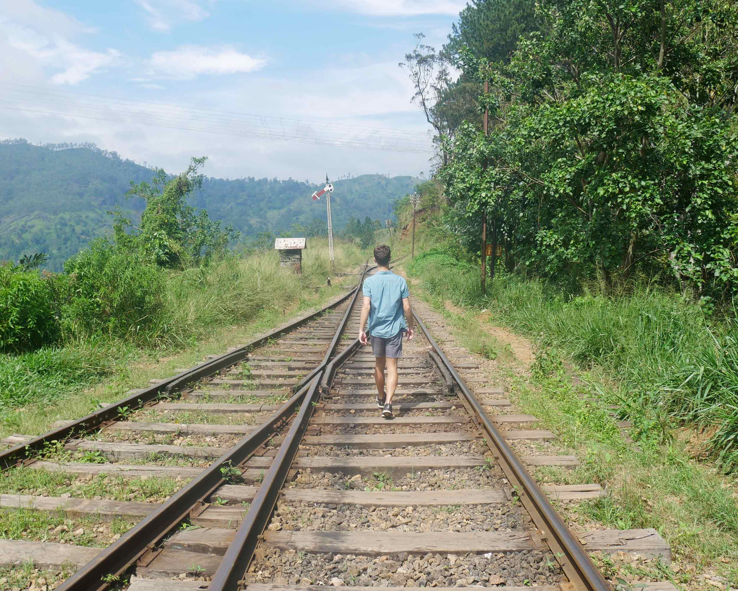 Taking the shortcut via the train tracks, which led right into town from our guesthouse.