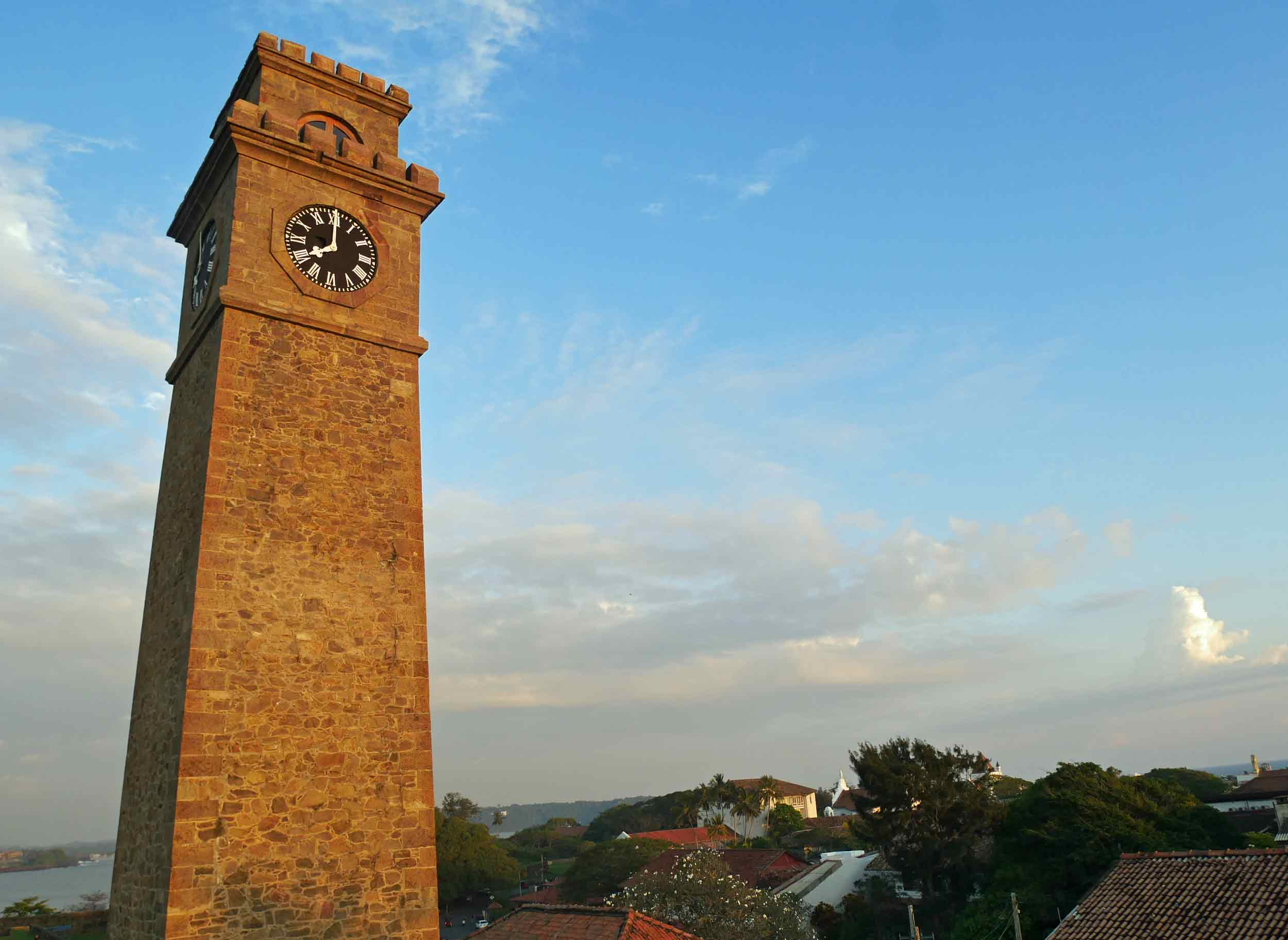 The golden hour was soon upon us in Galle, and this clock tower was begging to be photographed!
