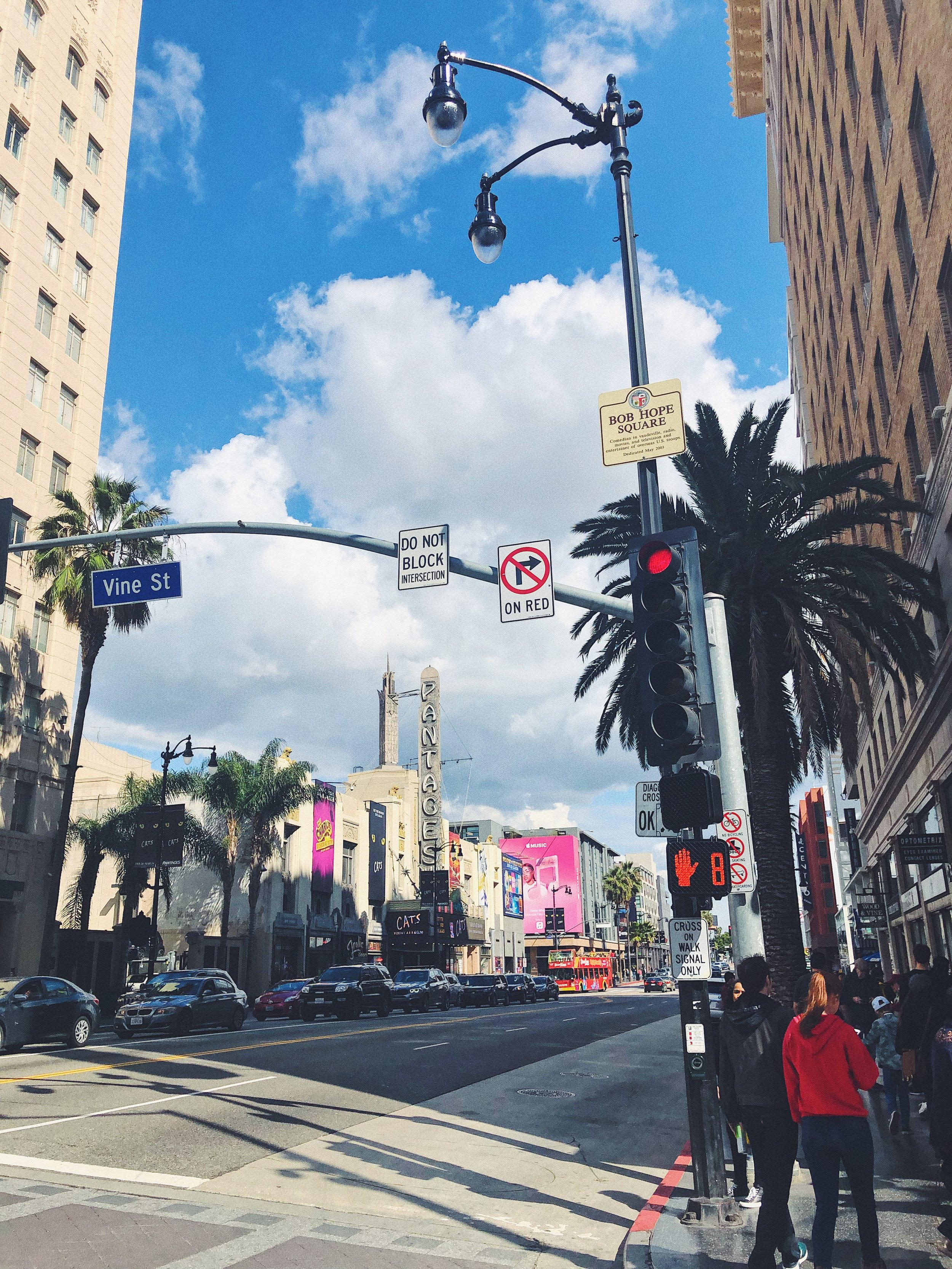 """Hollywood & Vine - The perfect street to experience Hollywood at its finest! """"The intersection of Hollywood Boulevard and Vine Street in Hollywood became famous in the 1920s for its concentration of radio and movie-related businesses. The Walk of Fame is centered on the intersection."""""""