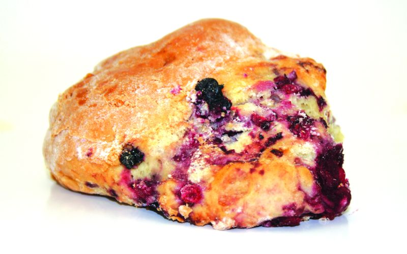 Mixed Berry   These soft and light scones are colourful and so delicious, having a wonderful blend of berry flavours! The ultimate snack to brighten up any winter's day. 125g each – 30 per batch.   Item Number: 5081   Also available par baked.   Item Number: M5093