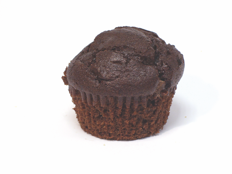 Double Chocolate Muffin   Indulge in our sinfully delicious and decadent double chocolate muffins. Topped with rich chocolate chips, Ina's giant double chocolate muffins will surely please chocolate lovers everywhere! For something different, serve as a dessert with ice-cream, strawberries, blueberries or raspberries.   Item number: 5003