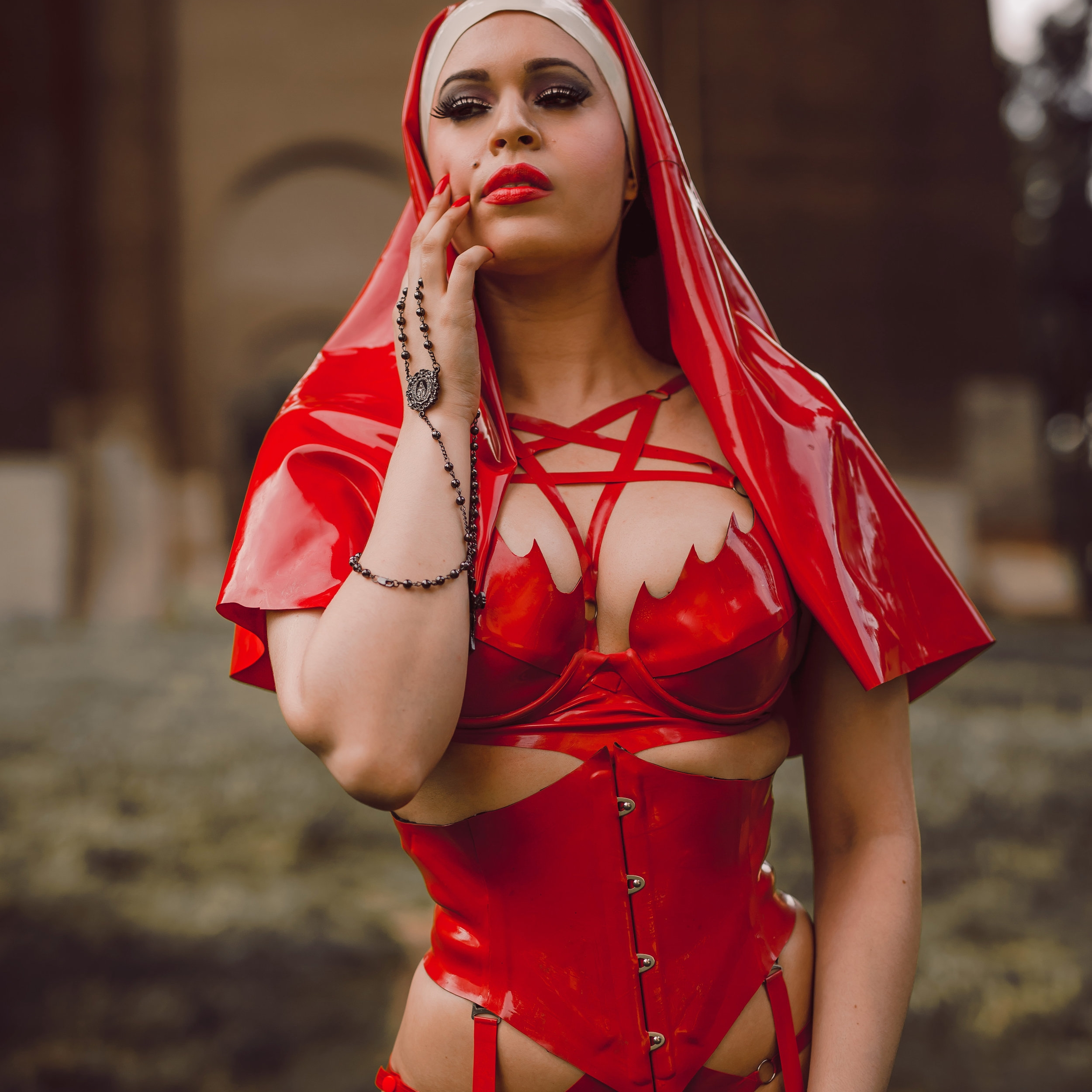 Reneé Masoomian - Internationally shown and published fashion and latex designer of Reneé Masoomian, BabyLove'sLatex, and Soliloquy Latex.