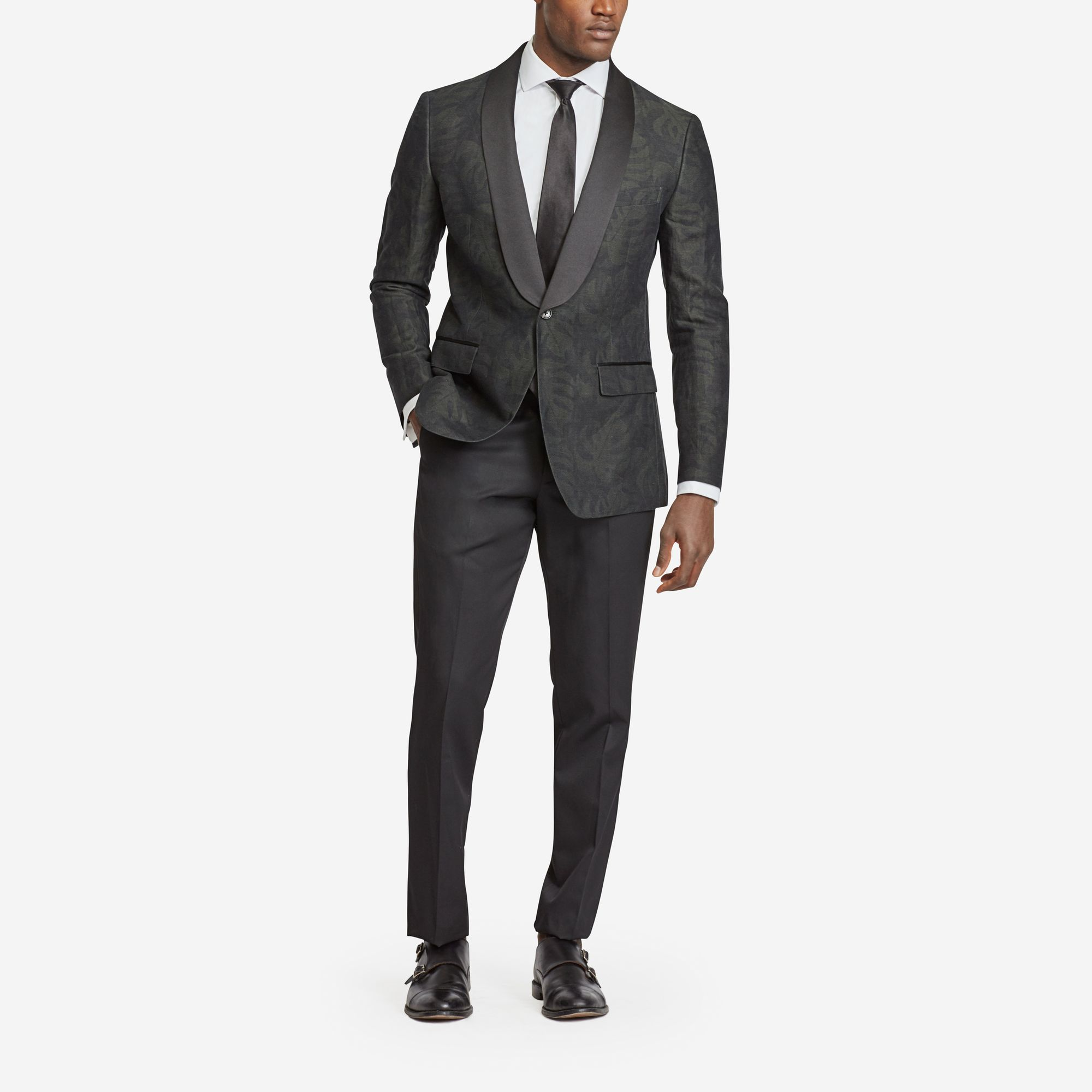 The Capstone Tuxedo  Black-tie? Own it. Weddings, charity balls, international espionage—when you need to look your absolute best, The Capstone Tuxedo is ready and waiting. - © Bonobos